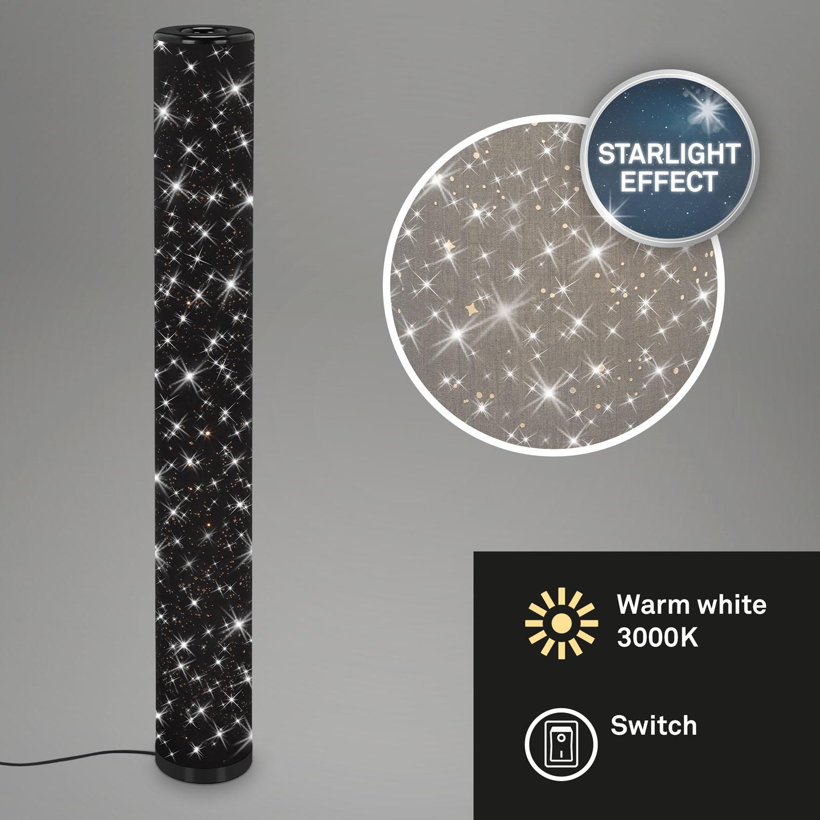 Sternenhimmer LED-Stehleuchte Schwarz