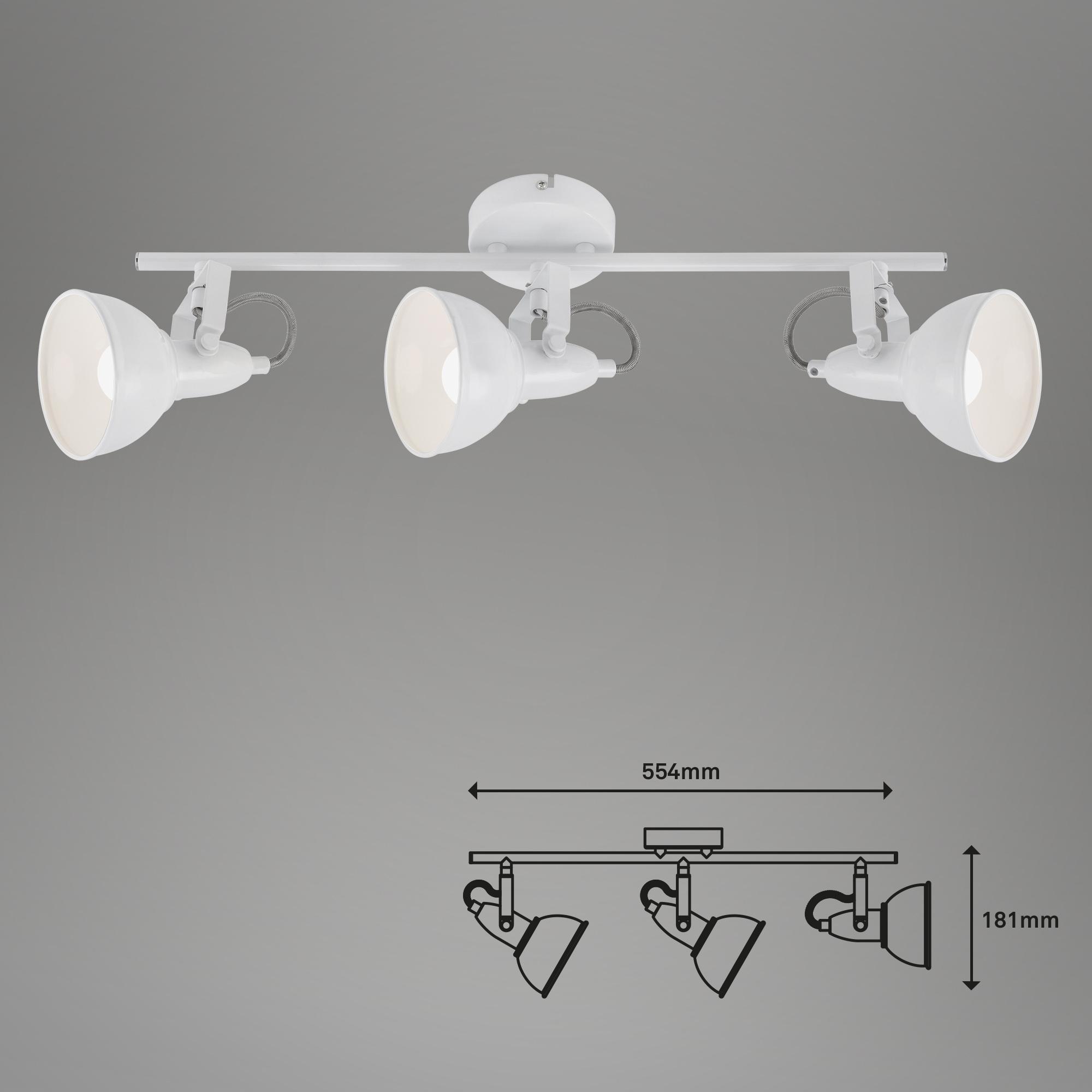 Spot Deckenleuchte, 55,4 cm, max. 40 W, Weiß