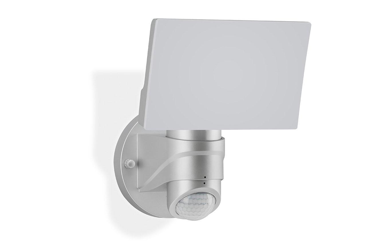 TELEFUNKEN LED Sensor Aussenstrahler, 24 cm, 16 W, Silber