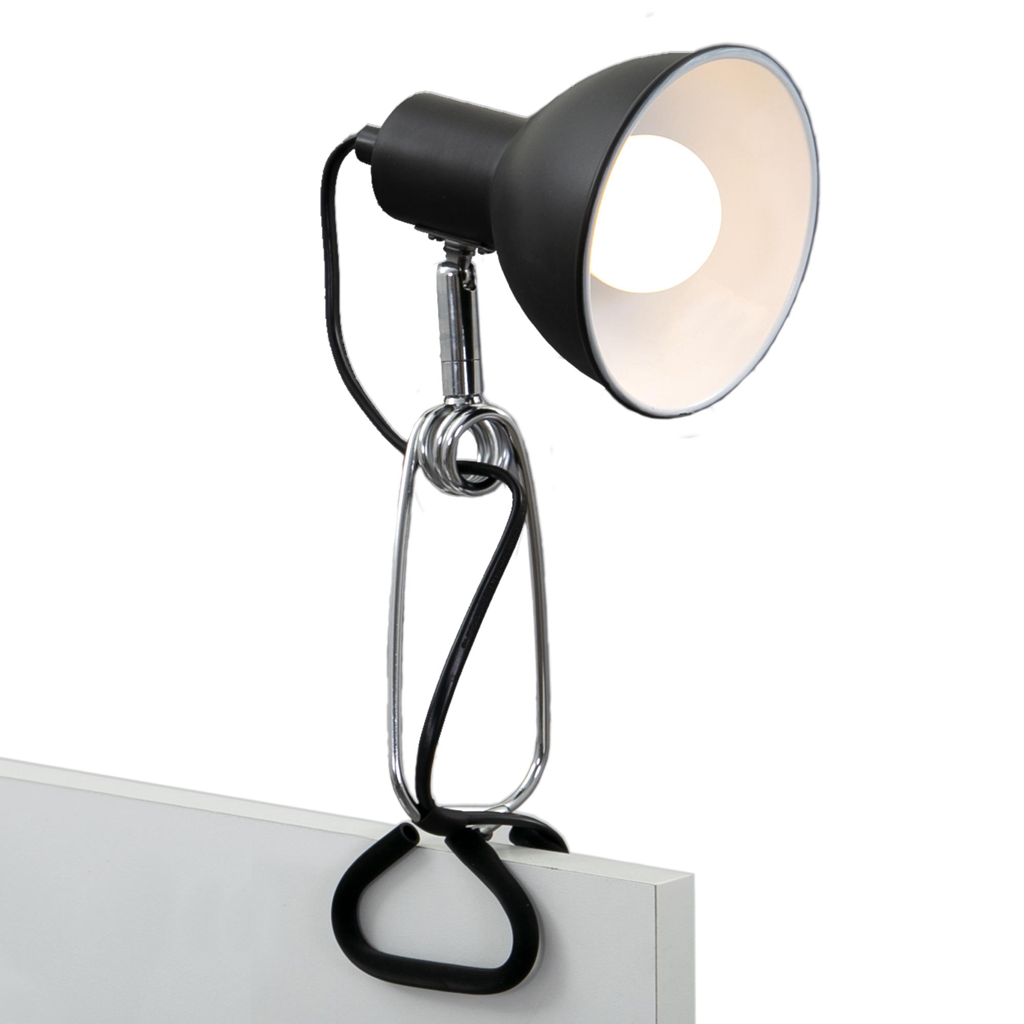 LED Klemmleuchte,30,5 cm, max. 8 W, Schwarz