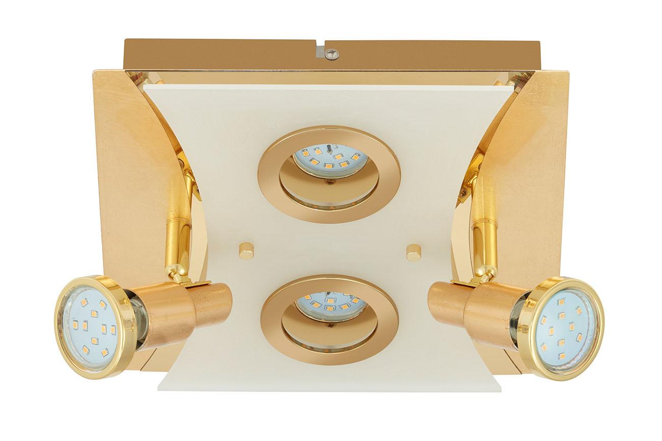 LED Spot Deckenleuchte, 25 cm , 20 W, Gold
