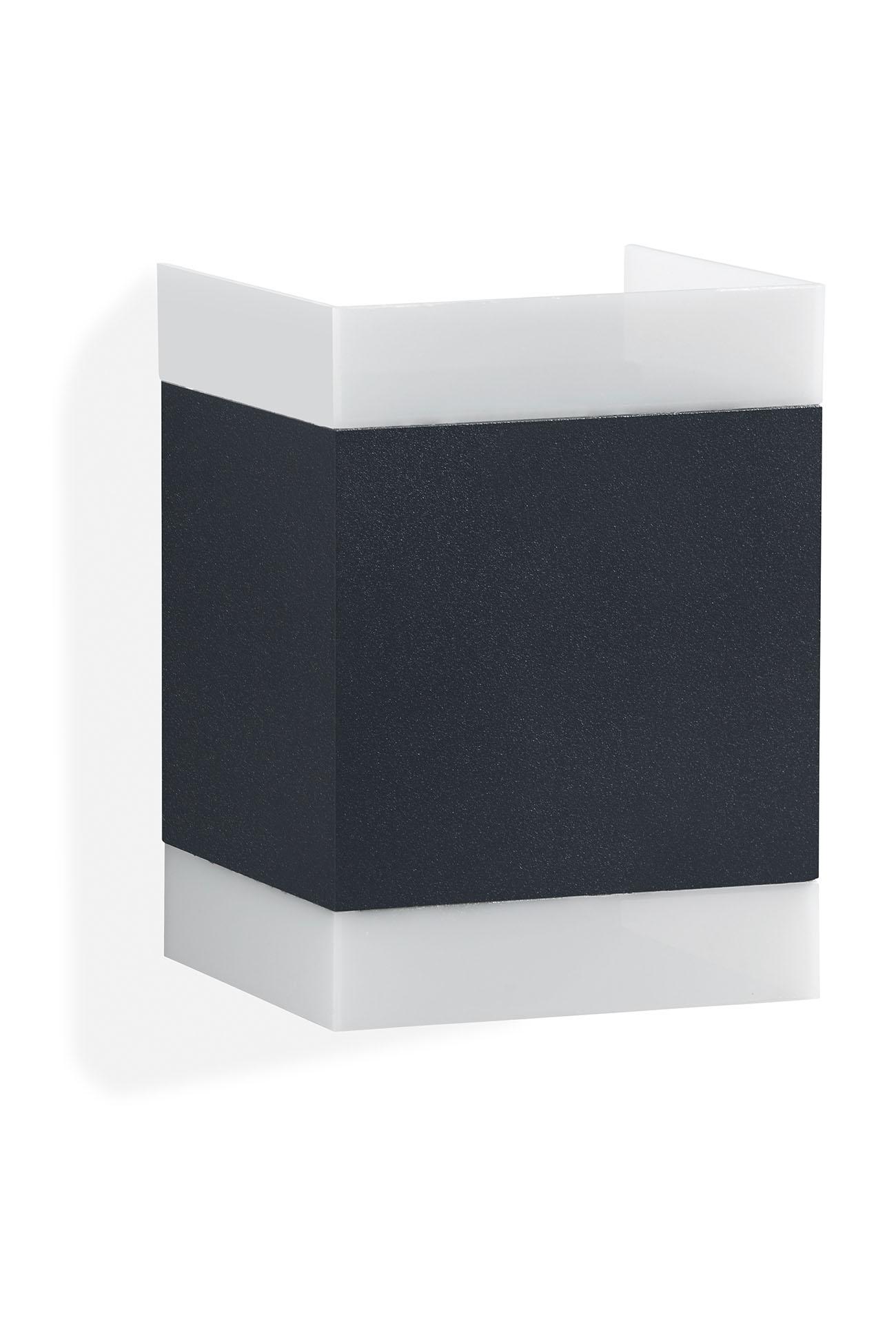 TELEFUNKEN LED Außenwandleuchte, 11 cm, 7 W, Anthrazit
