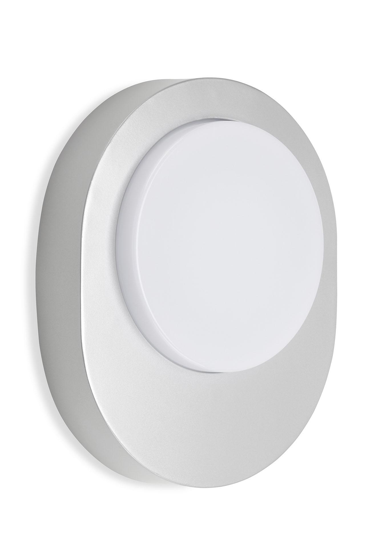 TELEFUNKEN LED Aussenwandleuchte, 20 cm, 8 W, Silber
