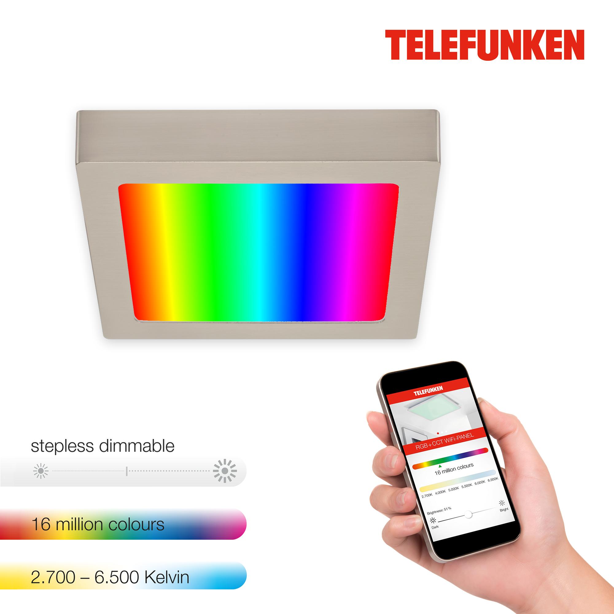 TELEFUNKEN Smart LED Aufbauleuchte Matt-Nickel