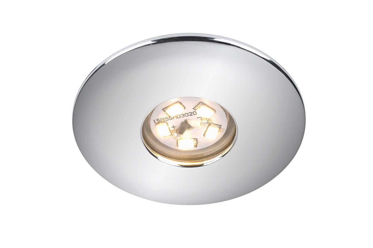 LED Einbauleuchte, Ø 4,5 cm, 1,8 W, Chrom