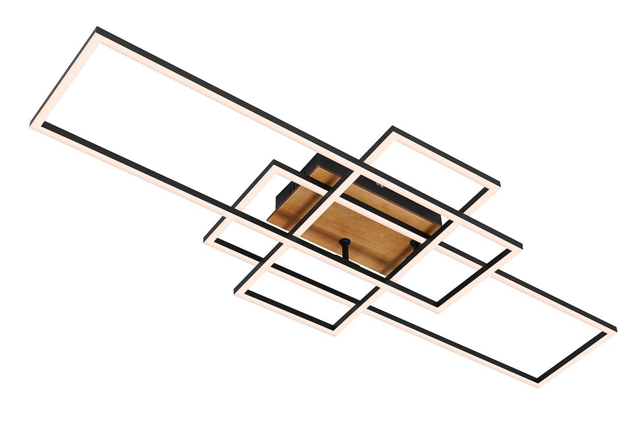 CCT LED Deckenleuchte, 104 cm, 5500 LM, 55 W, Schwarz