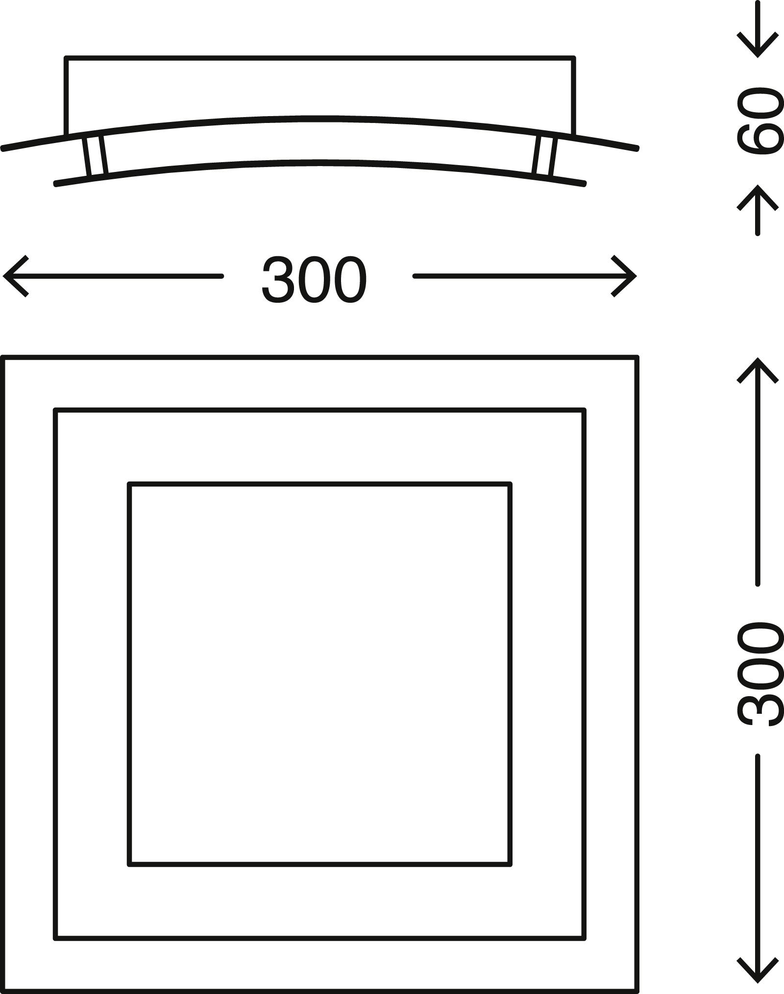 LED Deckenleuchte, 30 cm, 12 W, Gold