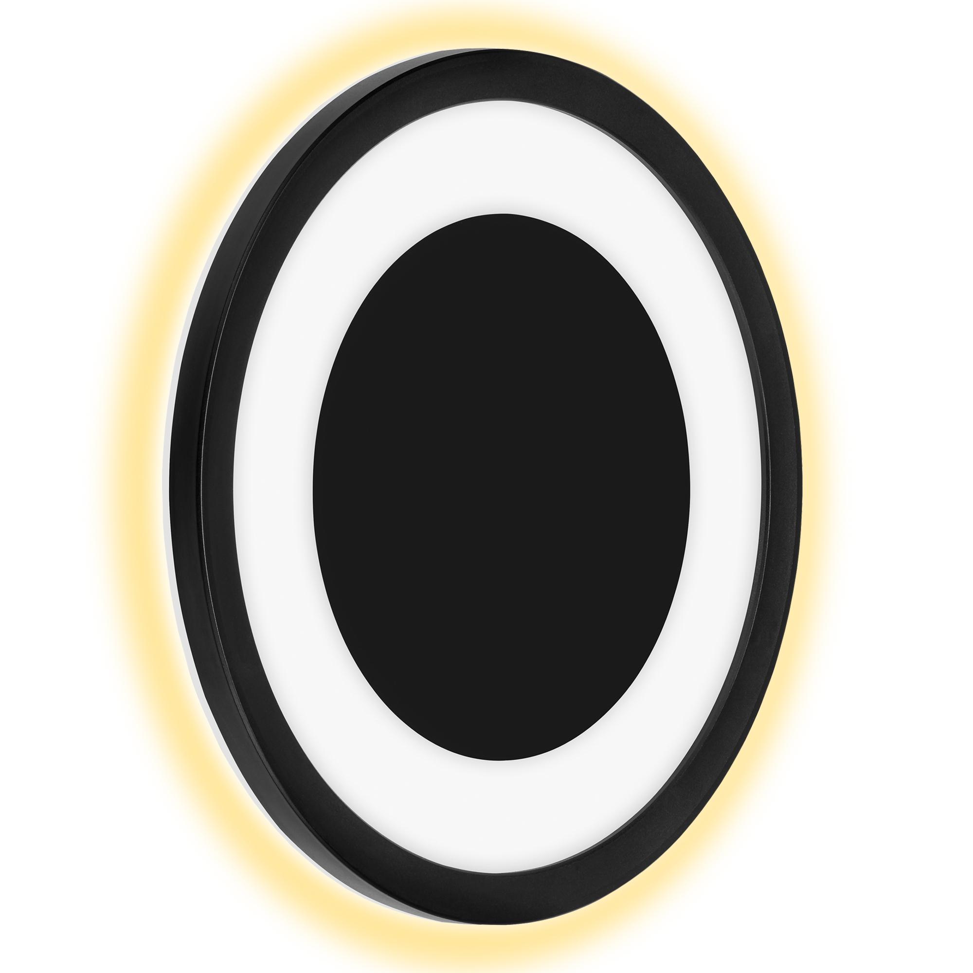 TELEFUNKEN LED Außenwandleuchte, Ø 28 cm, 15 W, Schwarz