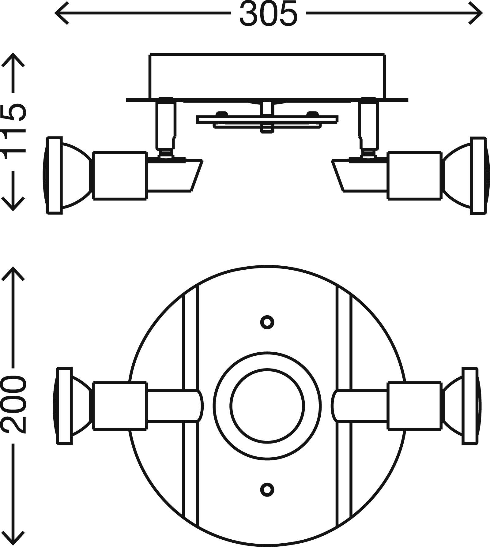 LED Spot Deckenleuchte, Ø 20 cm, 11 W, Matt-Nickel