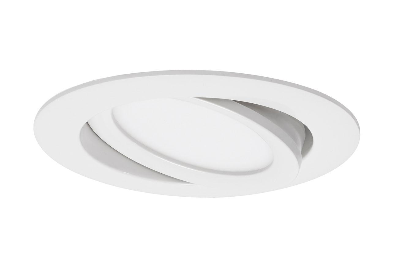 3er Set LED Einbauleuchte, Ø 10,6 cm, 7 W, Weiß