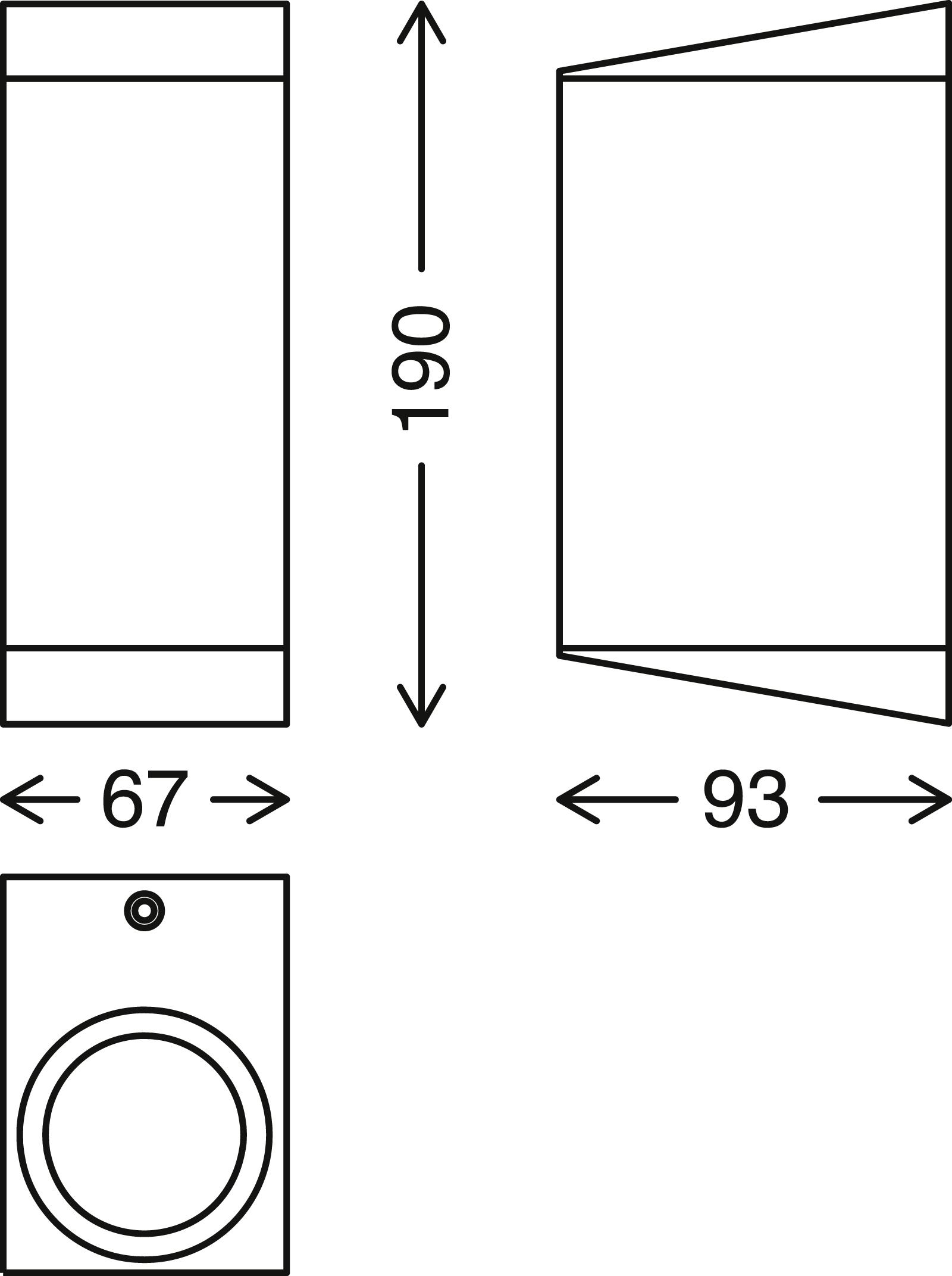 TELEFUNKEN LED Außenwandleuchte, 19 cm, 10 W, Weiß