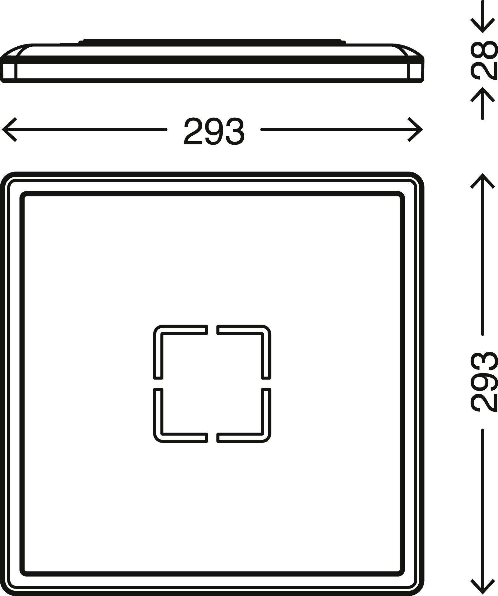 Slim LED Panel Schwarz