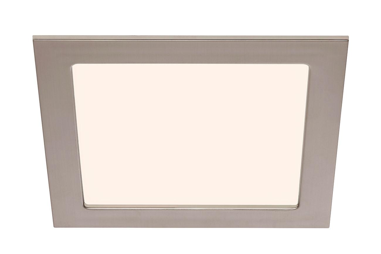 LED Einbauleuchte, 17 cm, 12 W, Matt-Nickel