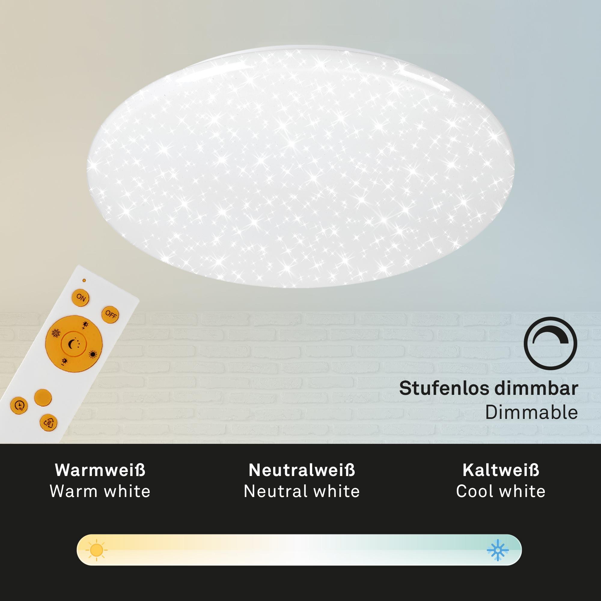 STERNENHIMMEL LED Deckenleuchte Weiß Fernbedienung