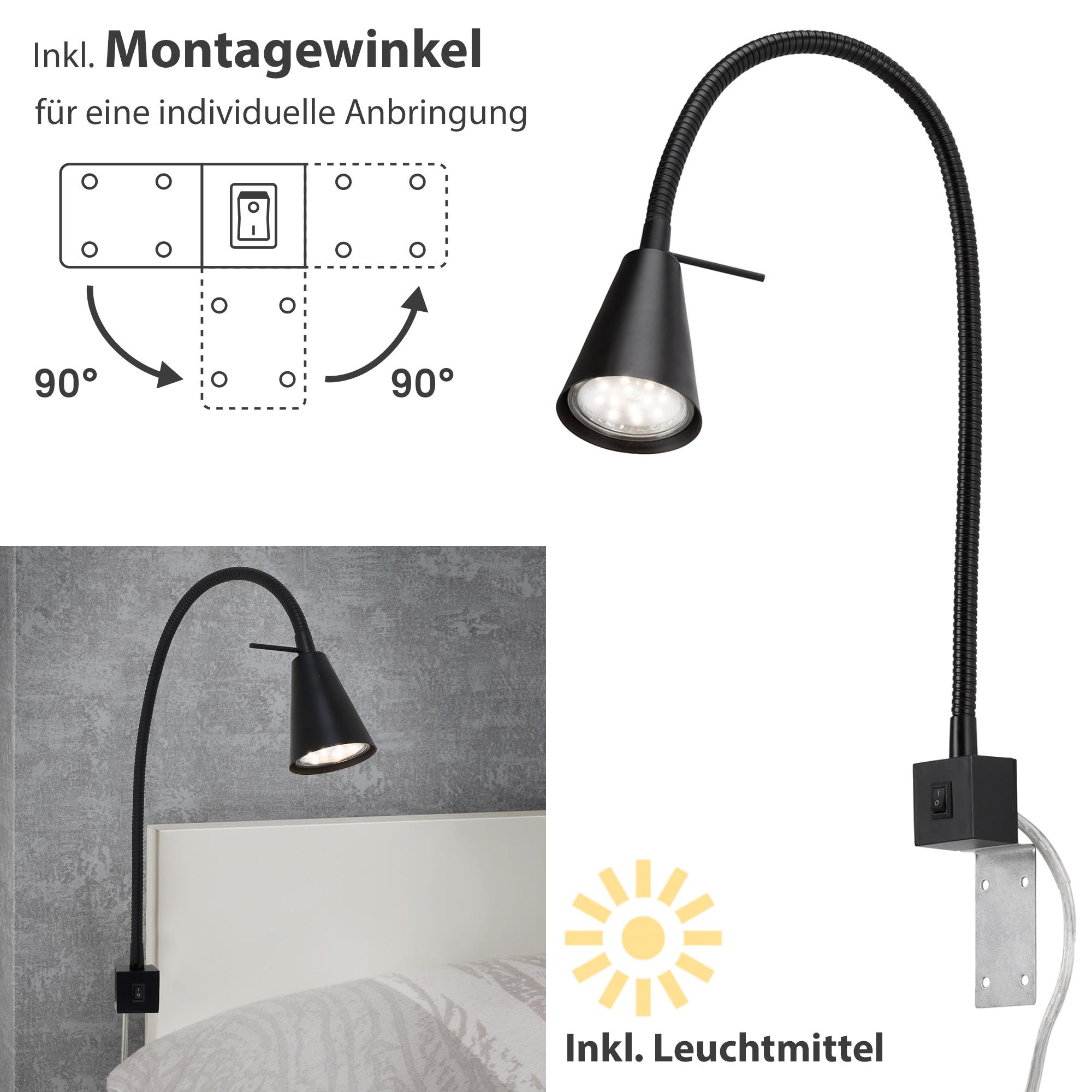 LED Wandleuchte Schwarz