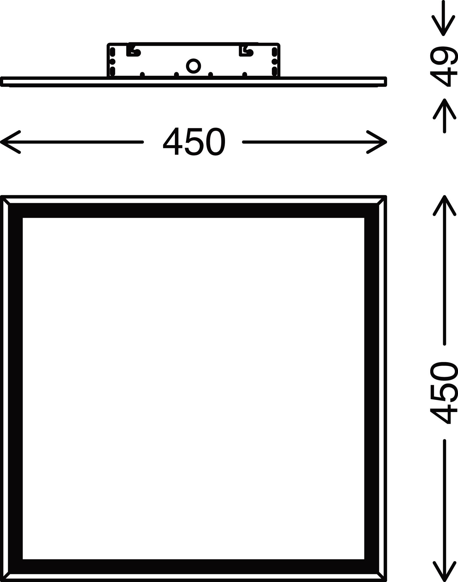TELEFUNKEN Sensor LED Panel, 45 cm, 25 W, Weiss
