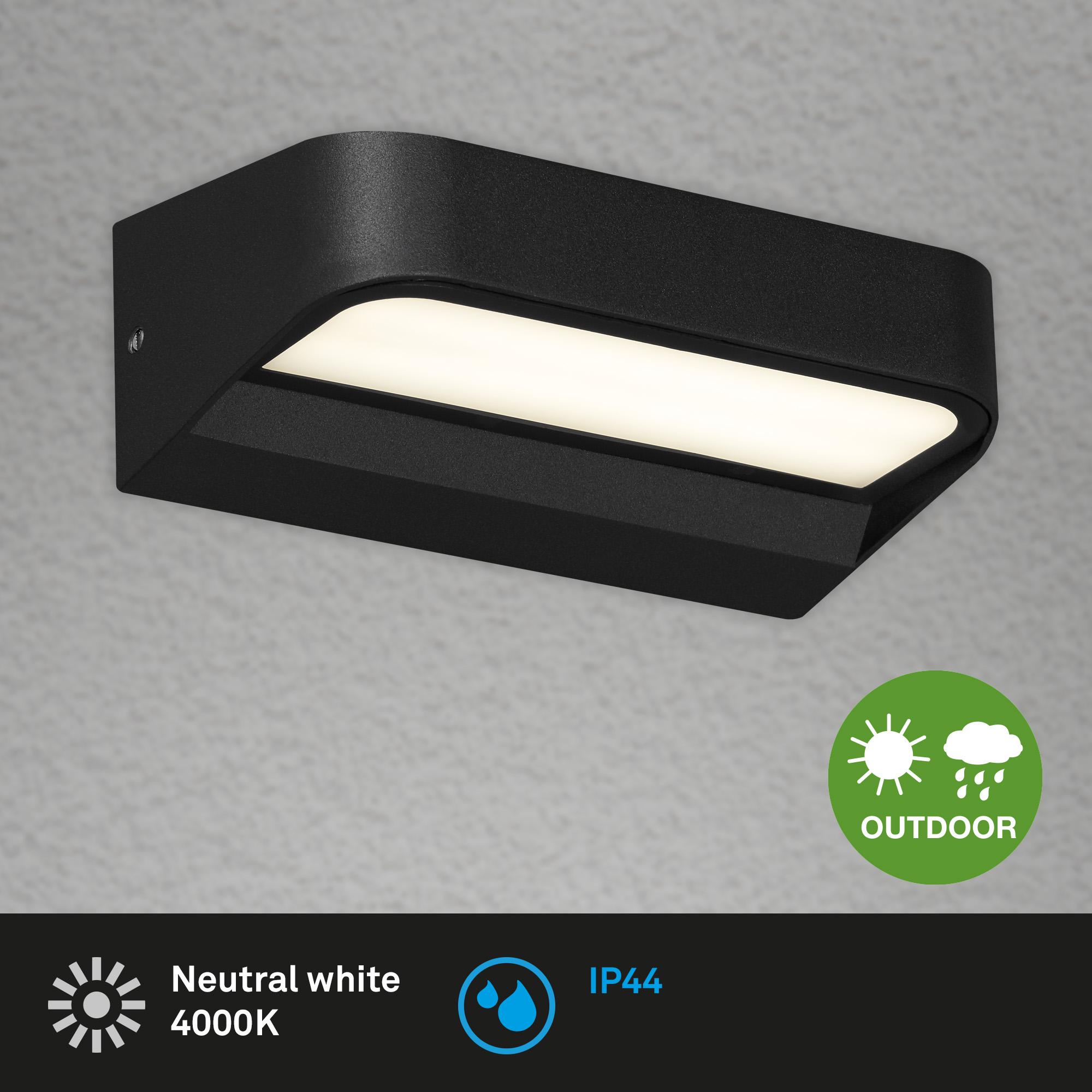 LED Außenleuchte, 14,2 cm, 8 W, Schwarz