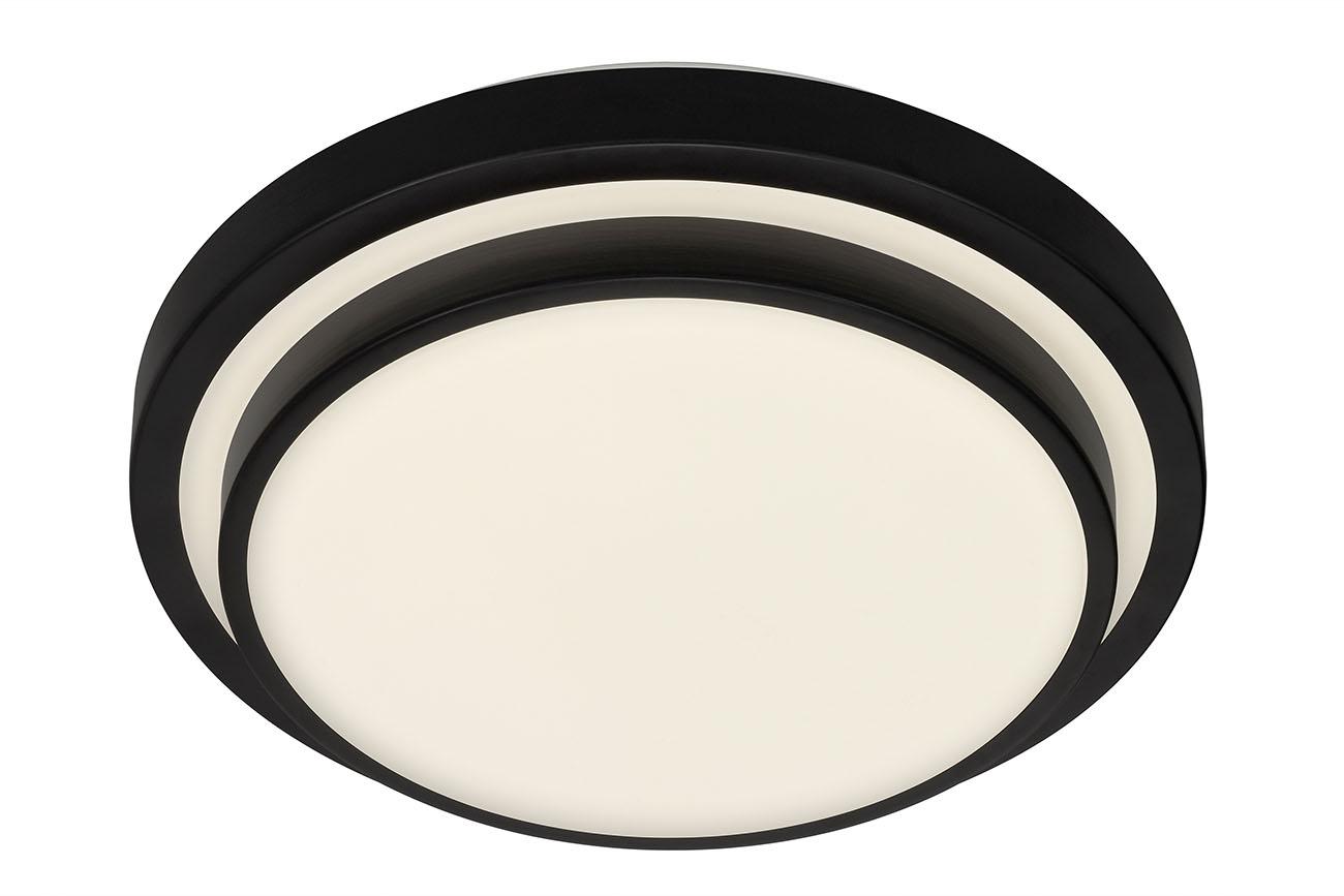 LED Deckenleuchte, Ø 33,8 cm, 18 W, Schwarz