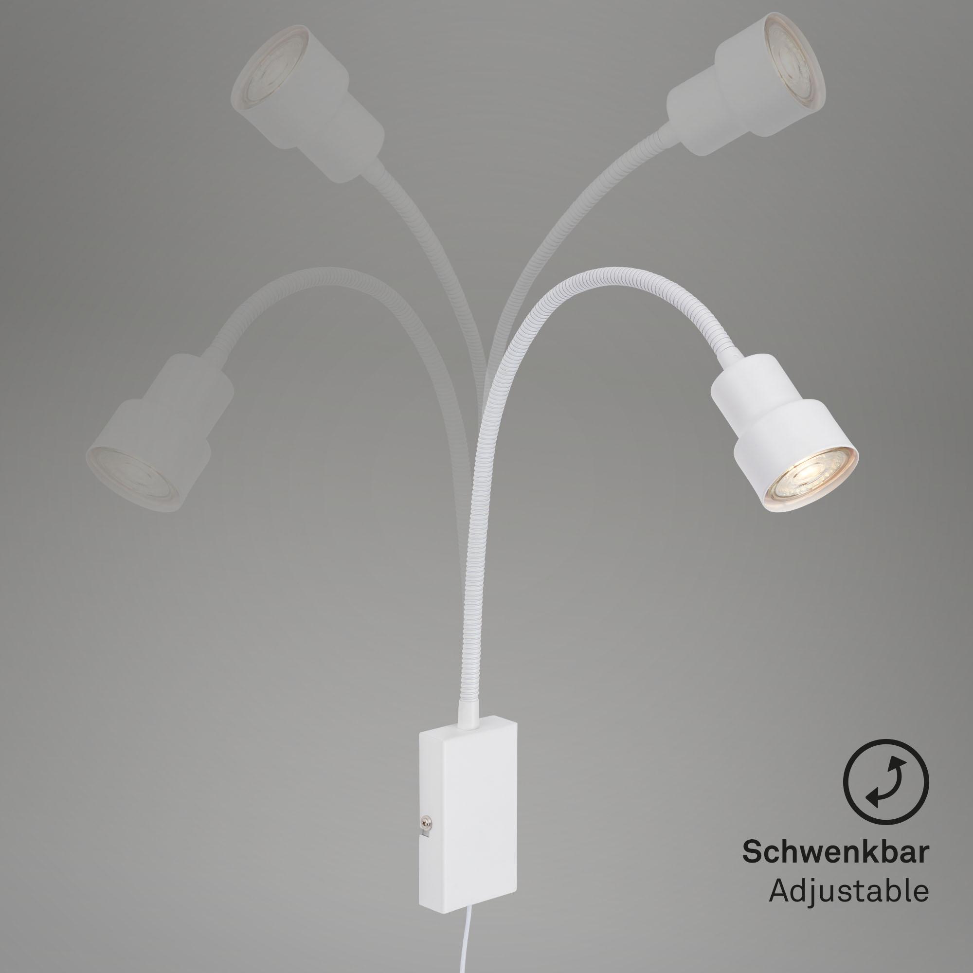 LED Touch Wandleuchte, 57,7 cm, 5 W, Weiß