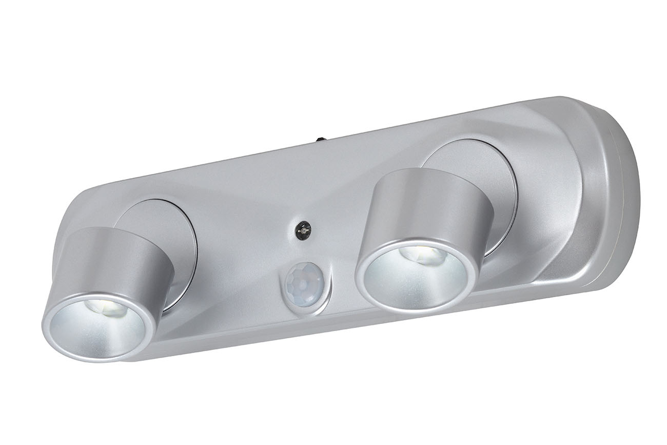LED Sensor Leuchte, Ø 8 cm, 0,35 W, Silber