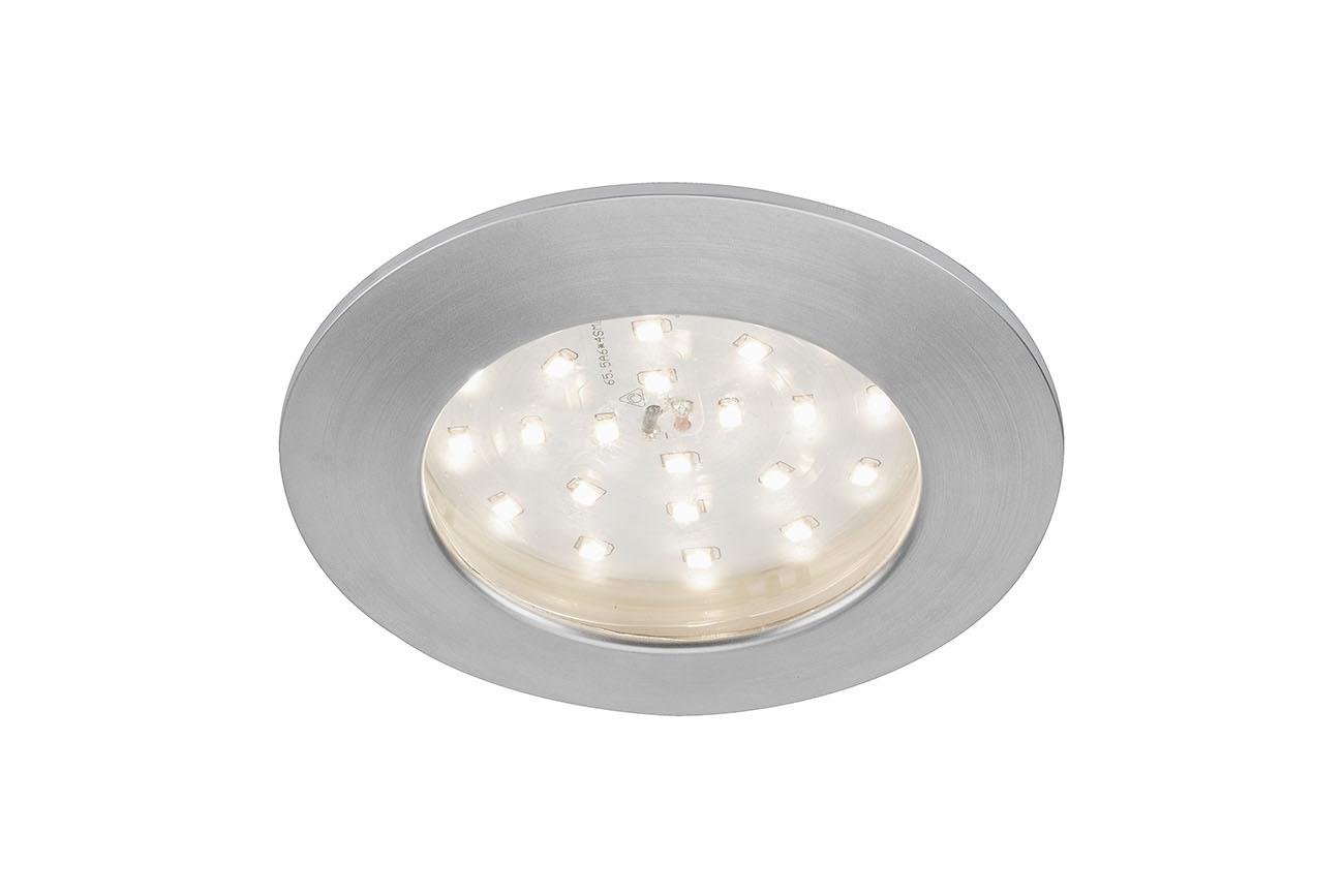LED Einbauleuchte, Ø 10 cm, 10,5 W, Alu