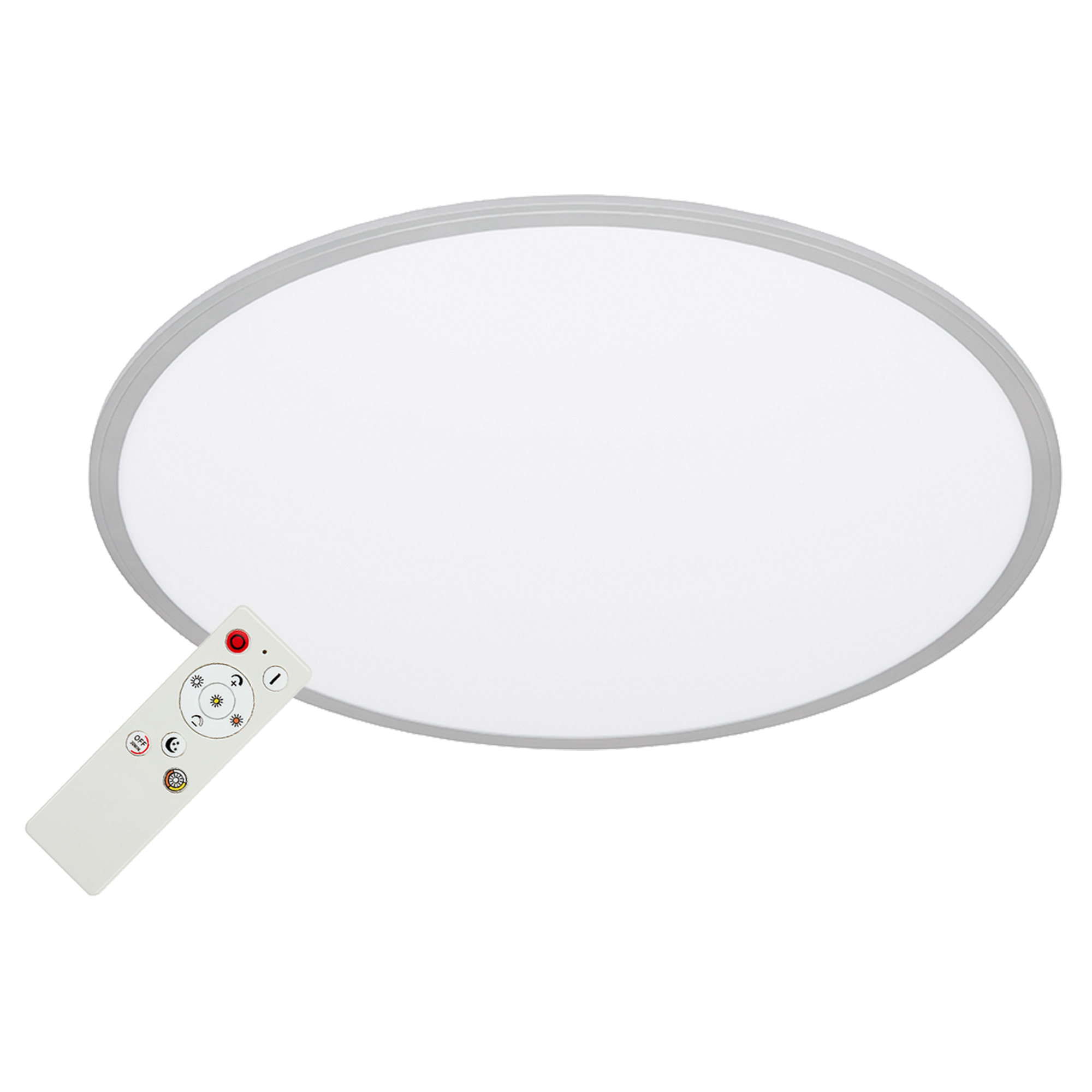 CCT LED Panel, Ø 56 cm, 4000 lm, 36 WATT, Silber