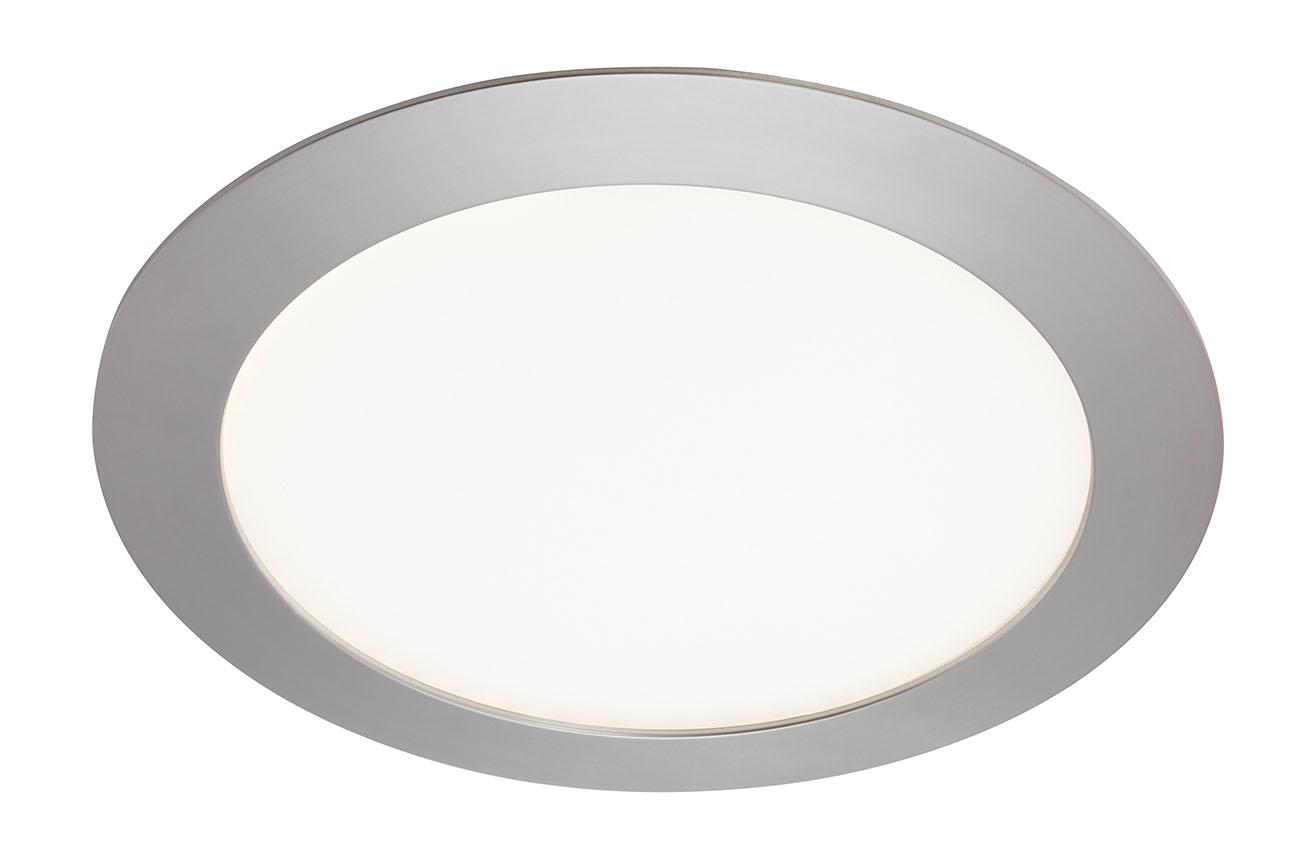 LED Einbaustrahler, Ø 22,5 cm, 18 W, Matt-Nickel