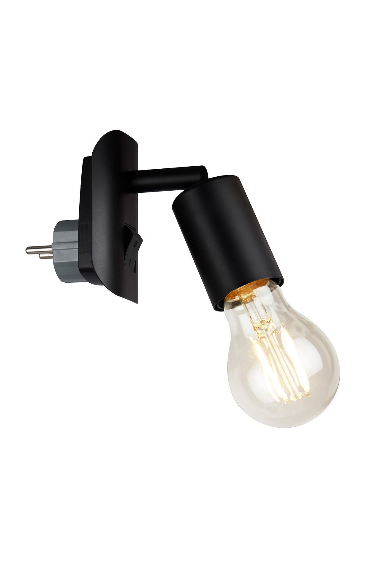 LED Steckerleuchte, 9,5 cm, max. 25 W, Schwarz