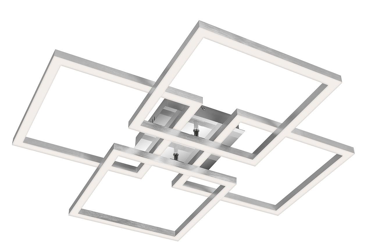 TELEFUNKEN Smart LED Deckenleuchte, 72,4 cm, 55 W, Chrom-Alu