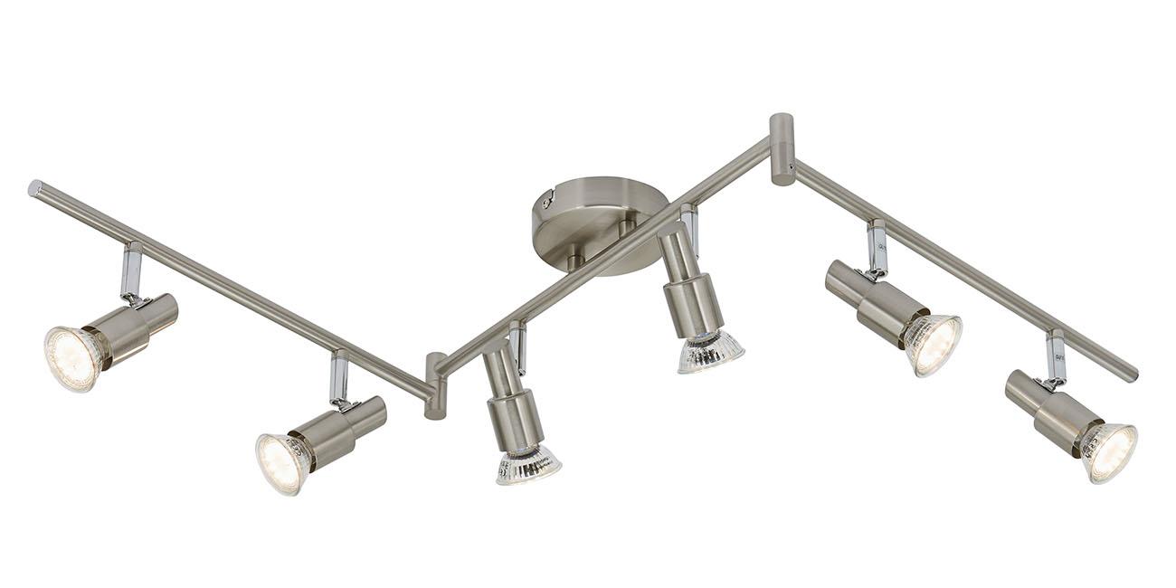LED Spot Deckenleuchte, 120 cm, 18 W, Matt-Nickel