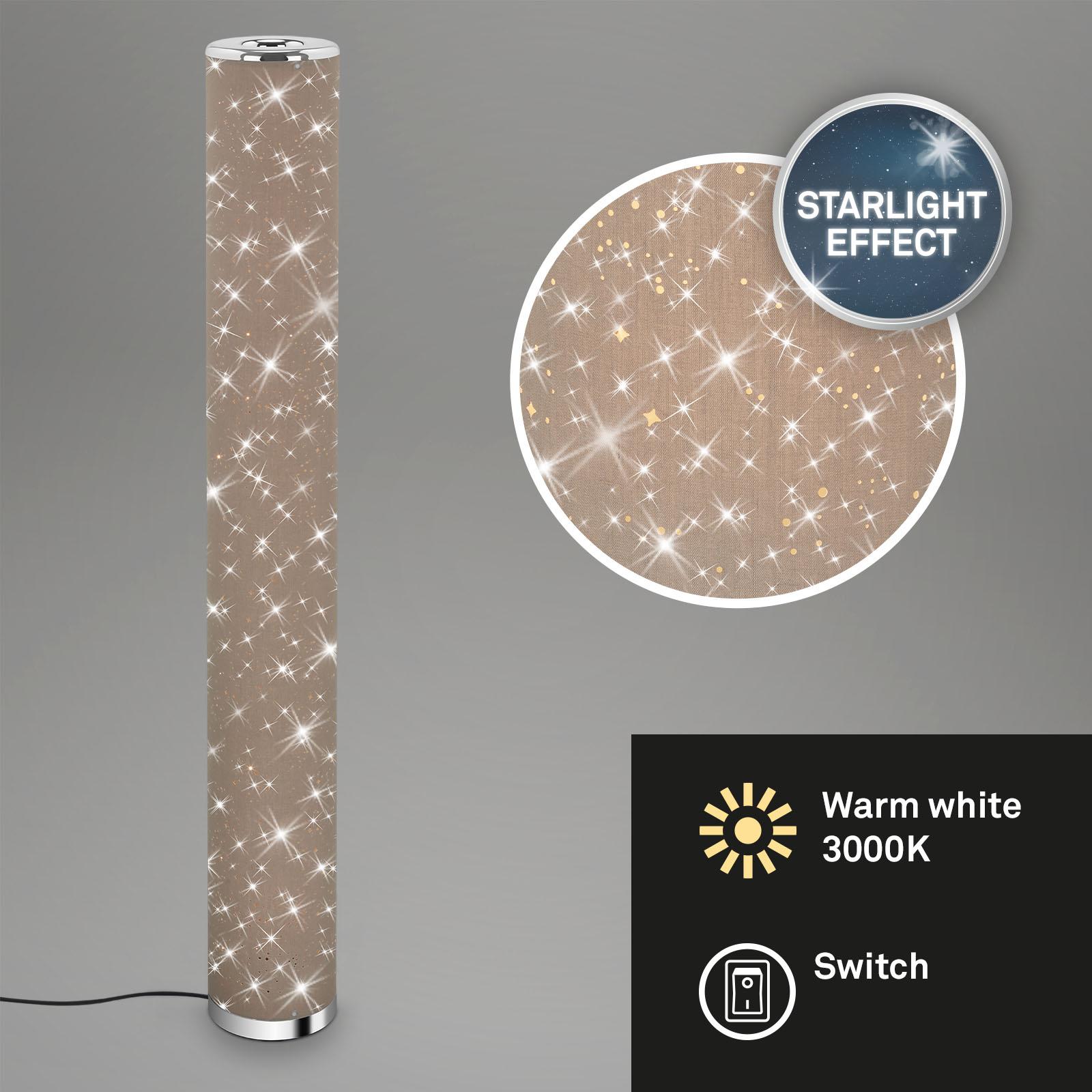Sternenhimmel LED-Stehleuchte Taupe-Chrom