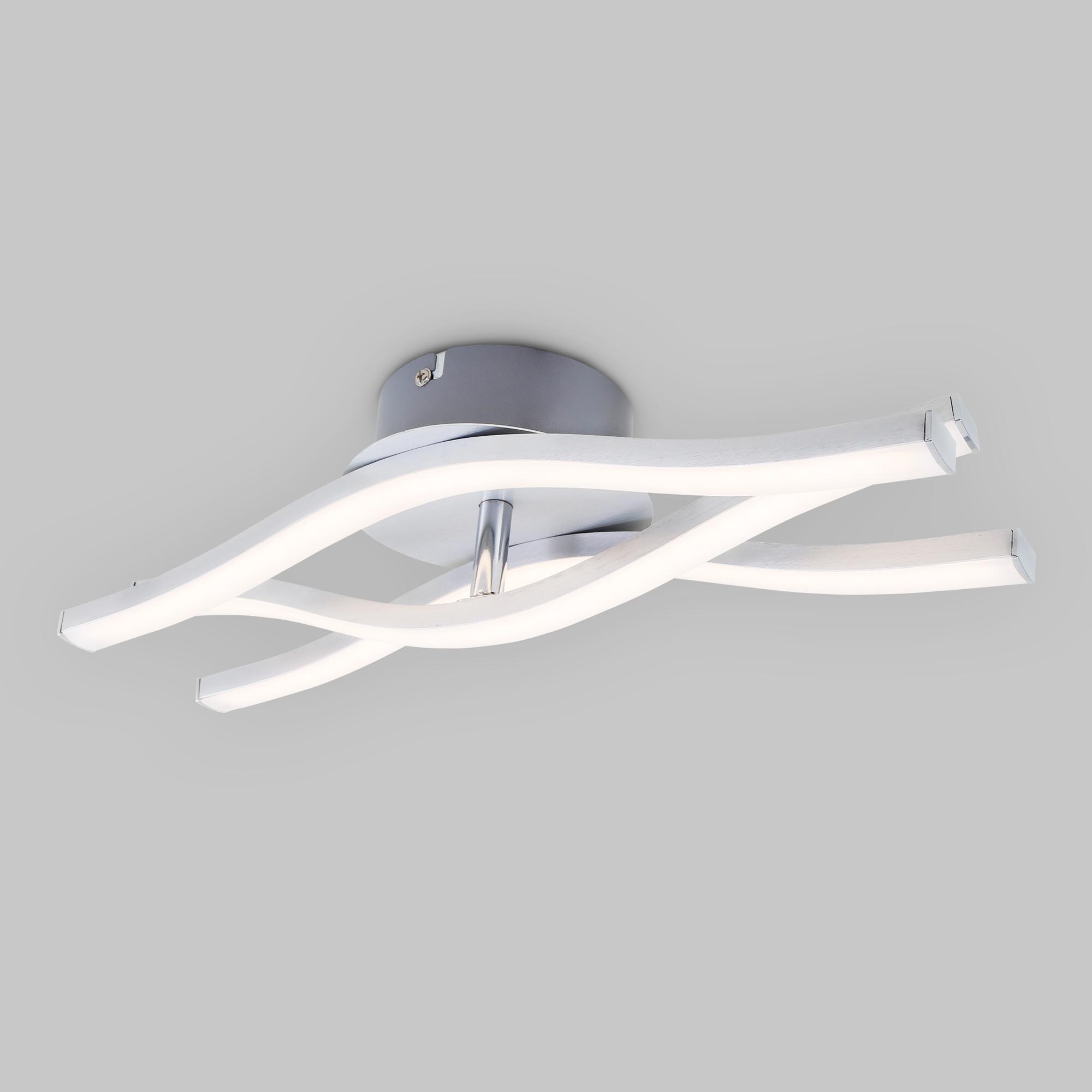 LED Wand- und Deckenleuchte, 36,5 cm, 18 W, Alu