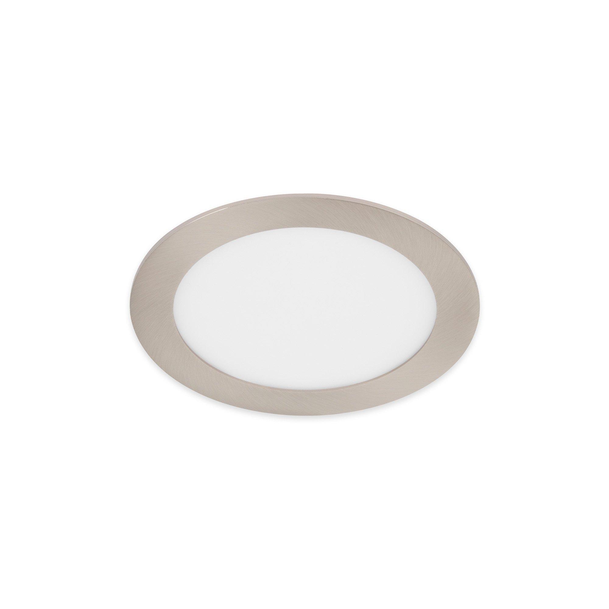TELEFUNKEN Smart LED Einbauleuchte, Ø 17 cm, 12 W, Matt-Nickel