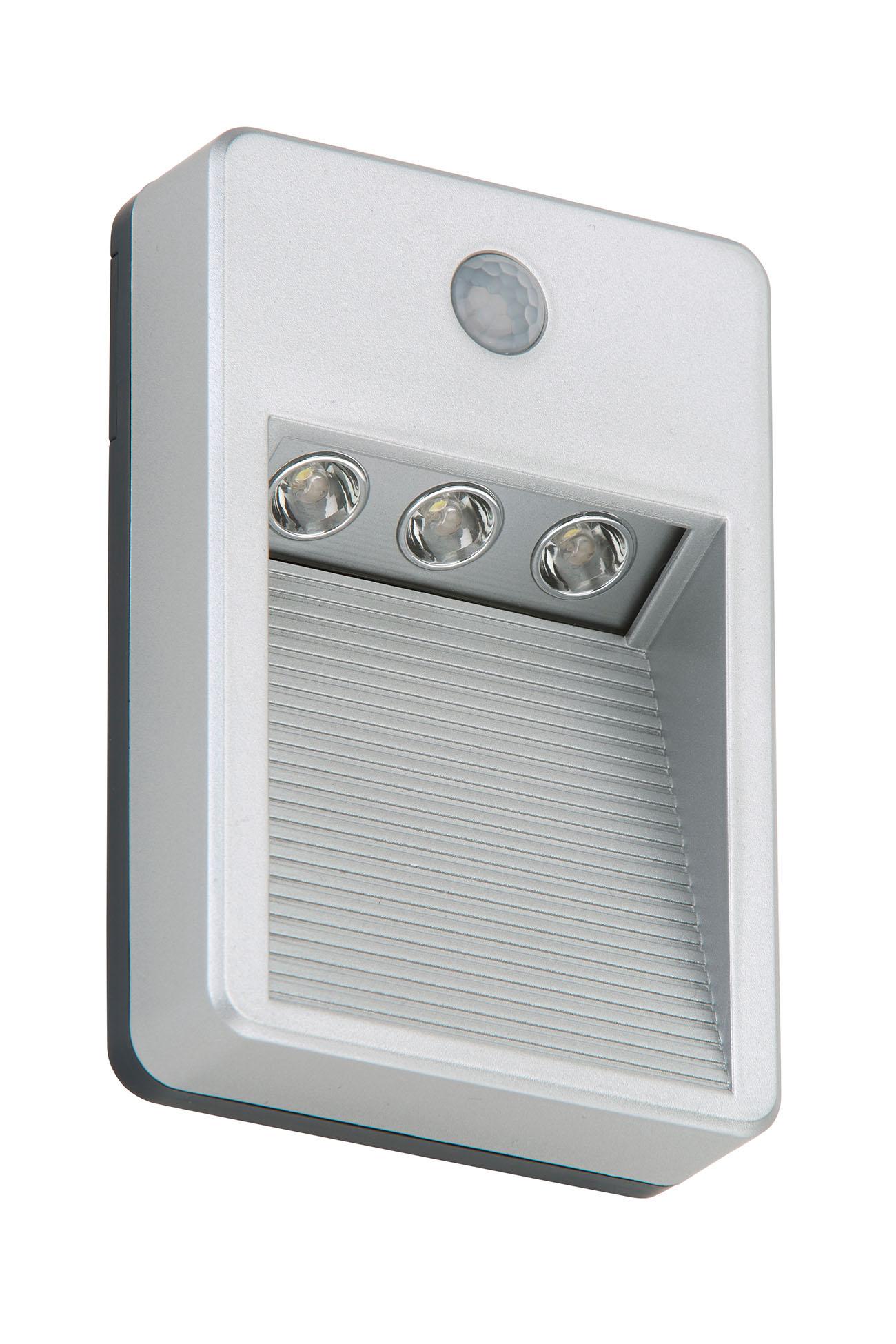 Sensor LED Außenleuchte, 8,5 cm, 0,18 W, Titan-Silber