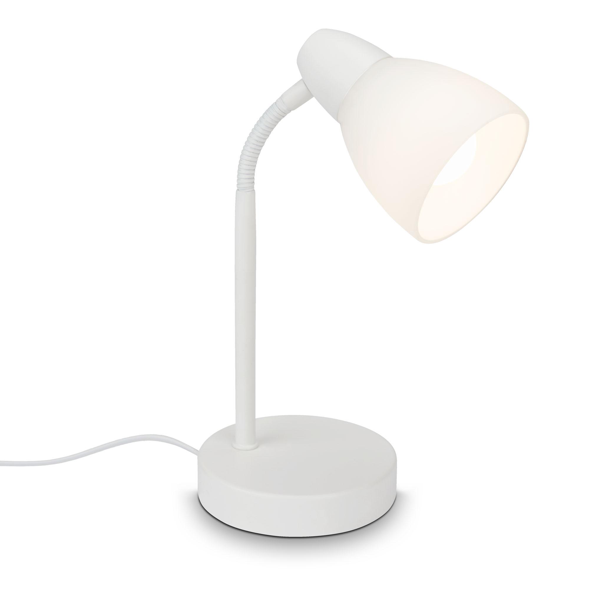 Tischleuchte, 30 cm, max. 25 W, Weiß