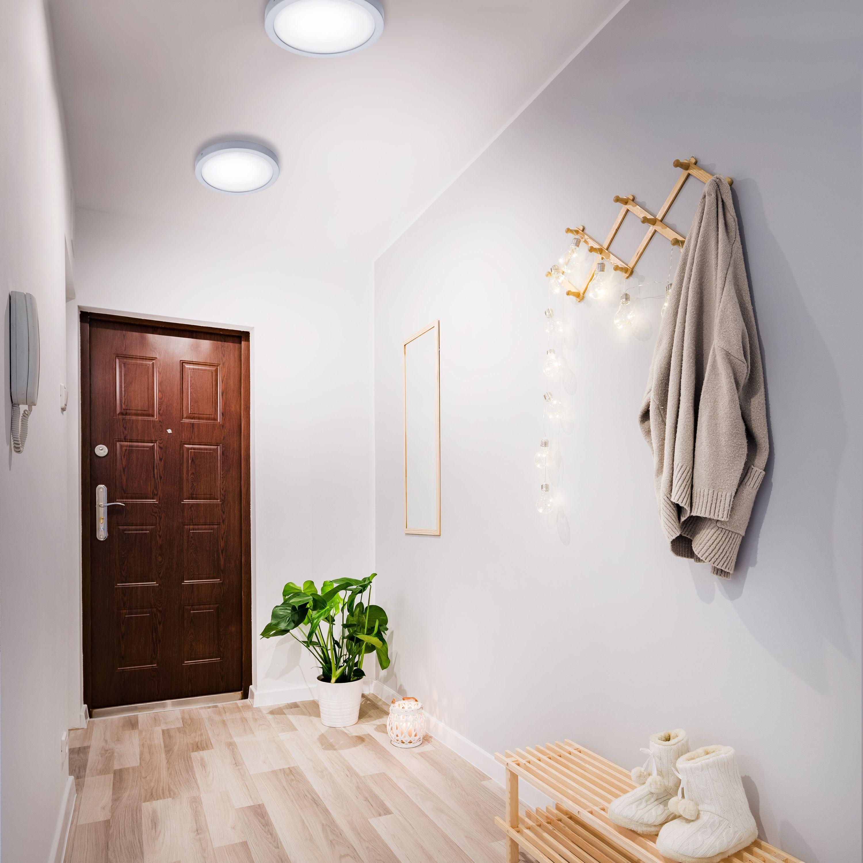 LED Deckenleuchte, Ø 30 cm, 21 W, Chrom-Matt