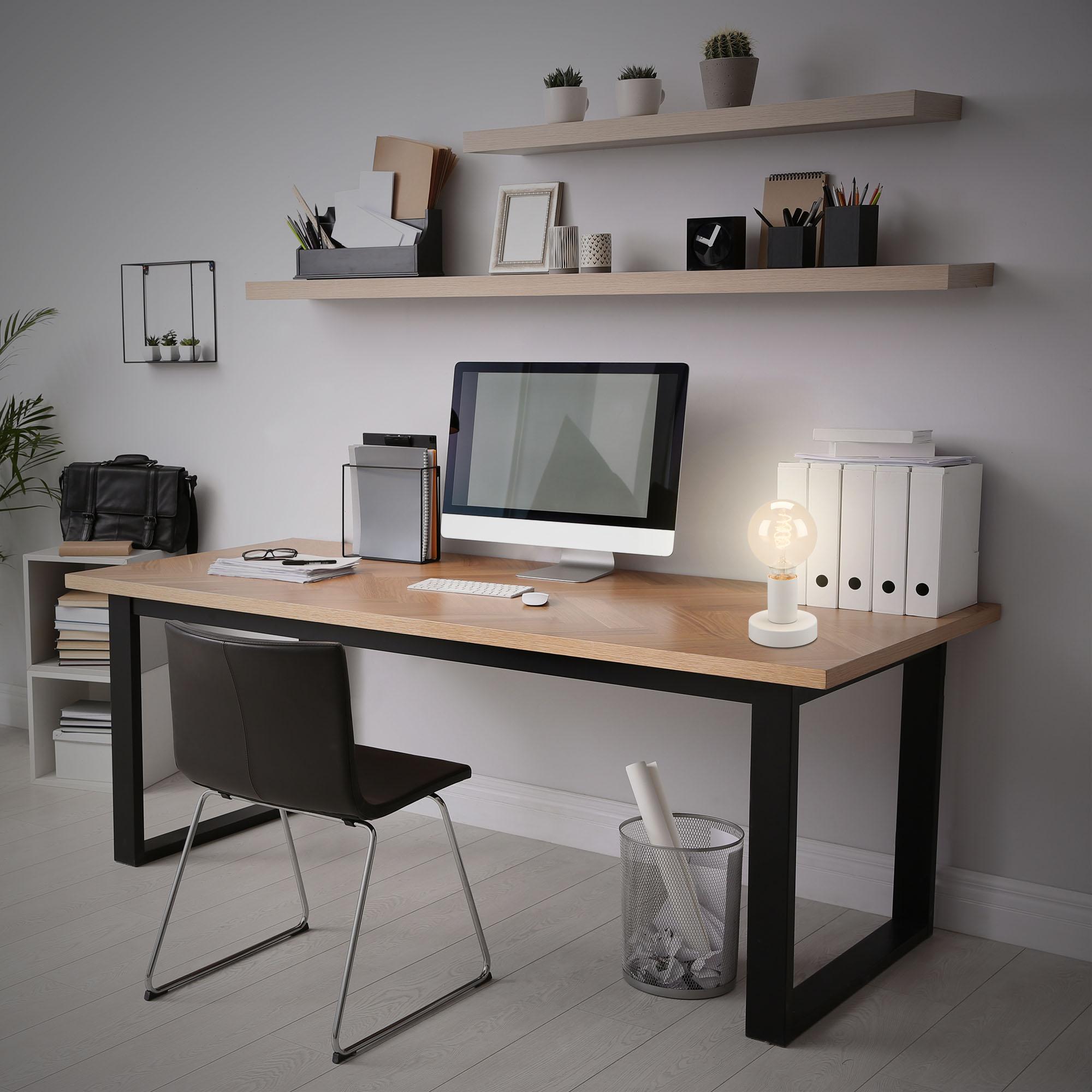 Tischleuchte, Ø 10 cm, max. 10 W, Weiß