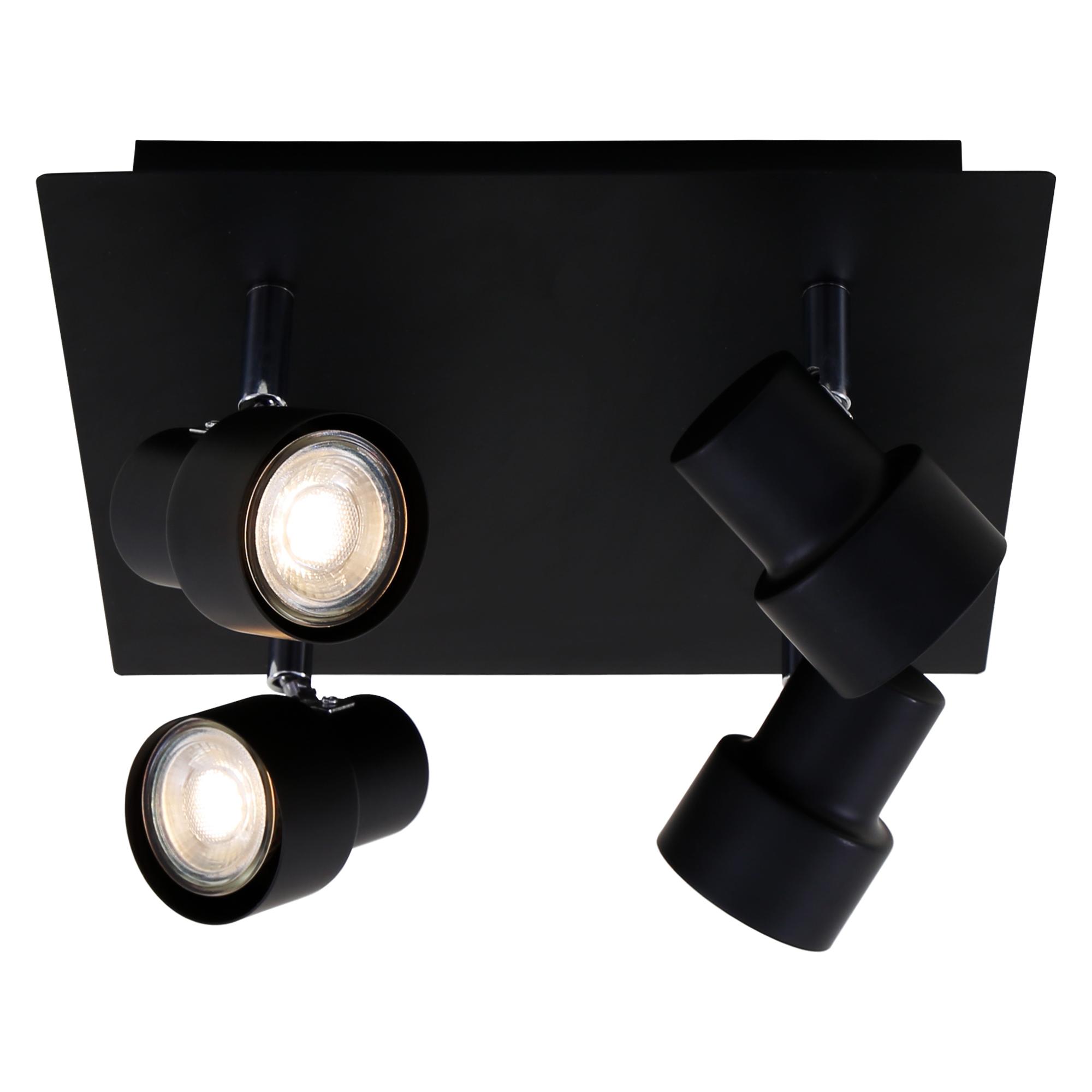 LED Spot Deckenleuchte, 26,5 cm, 20 W, Schwarz