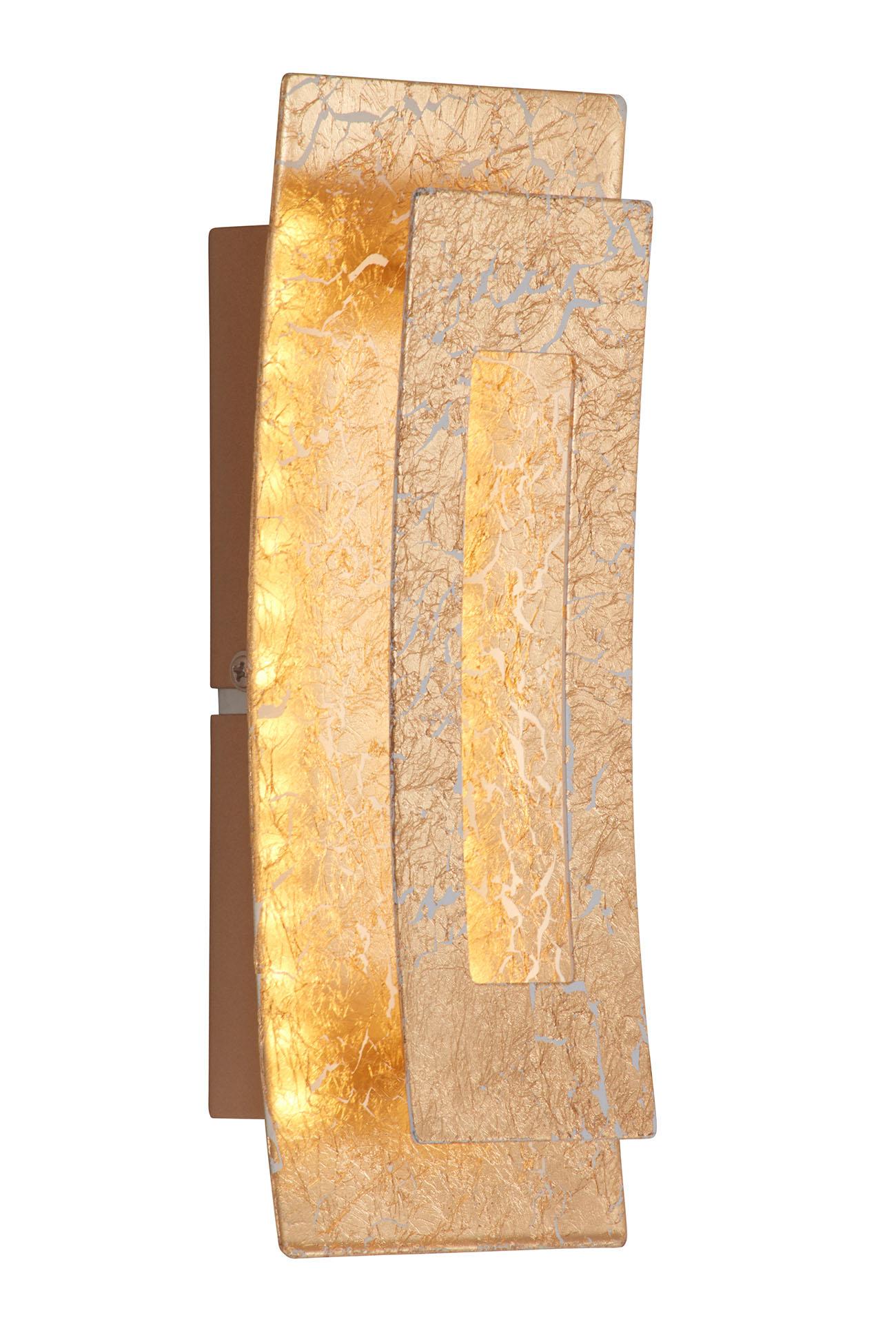 LED Wandleuchte, 22 cm, 6 W, Gold