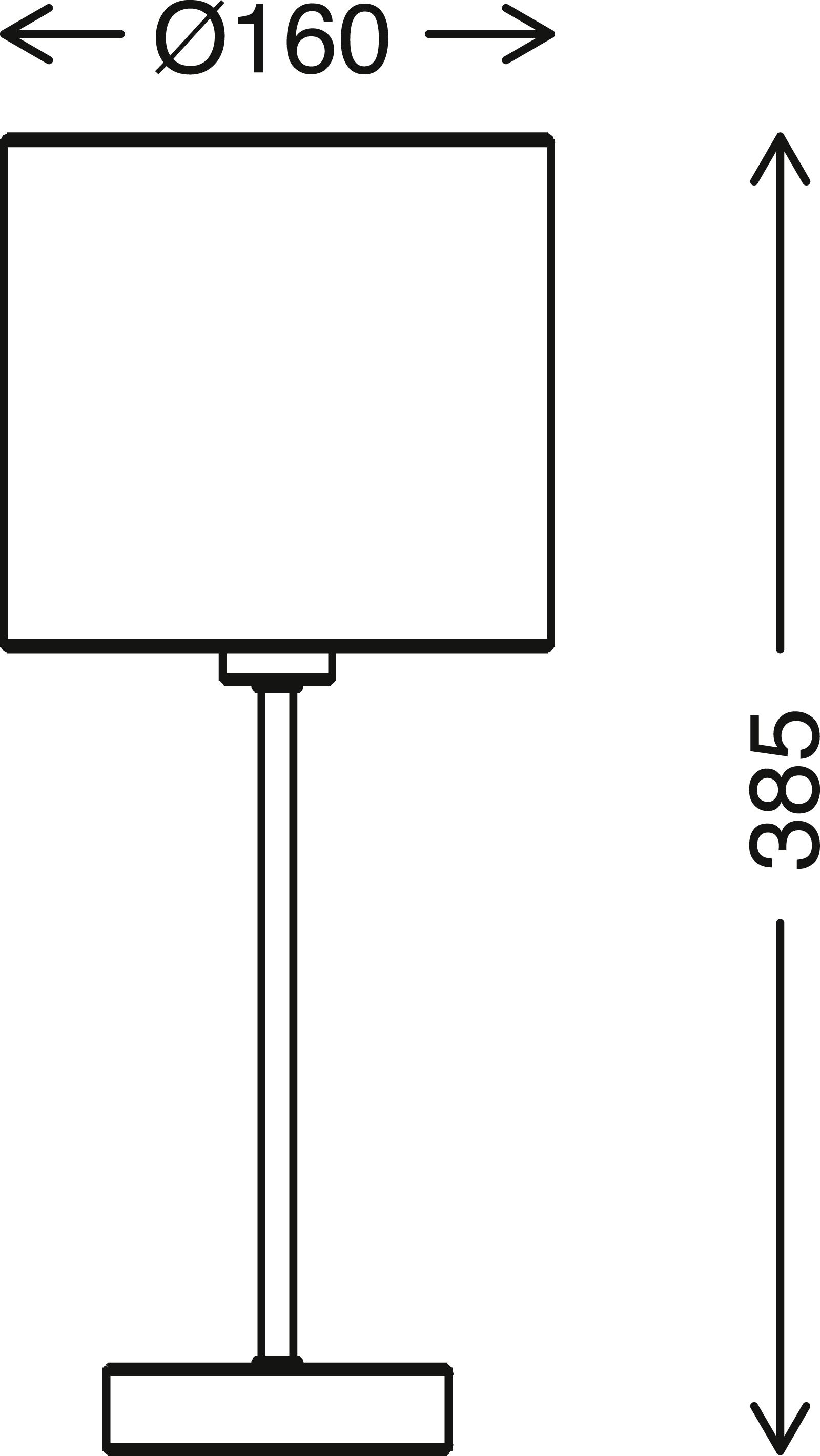 LED Tischleuchte, max. 25 W, 38,5 cm, Weiss