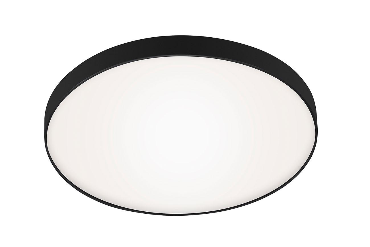 LED Deckenleuchte, Ø 28,5 cm, 13 W, Schwarz-Weiss