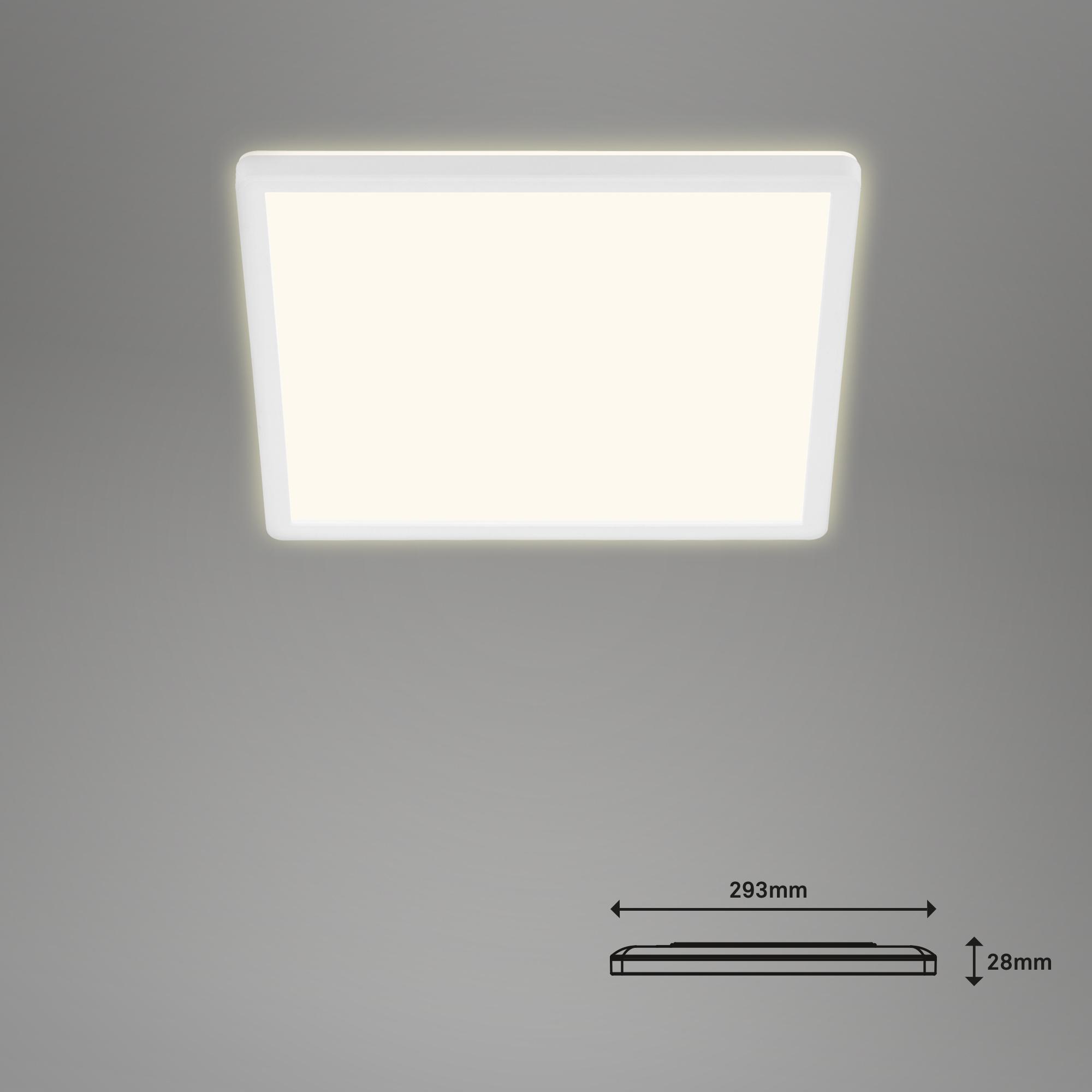 SLIM CCT LED Panel, 29,3 cm, 18 W, Weiß