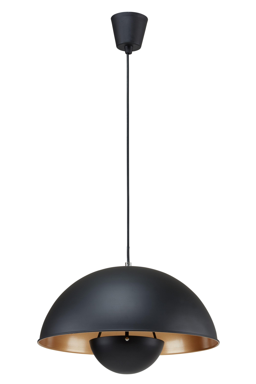 Pendelleuchte, Ø 28 cm, max. 60 W, Schwarz-Gold