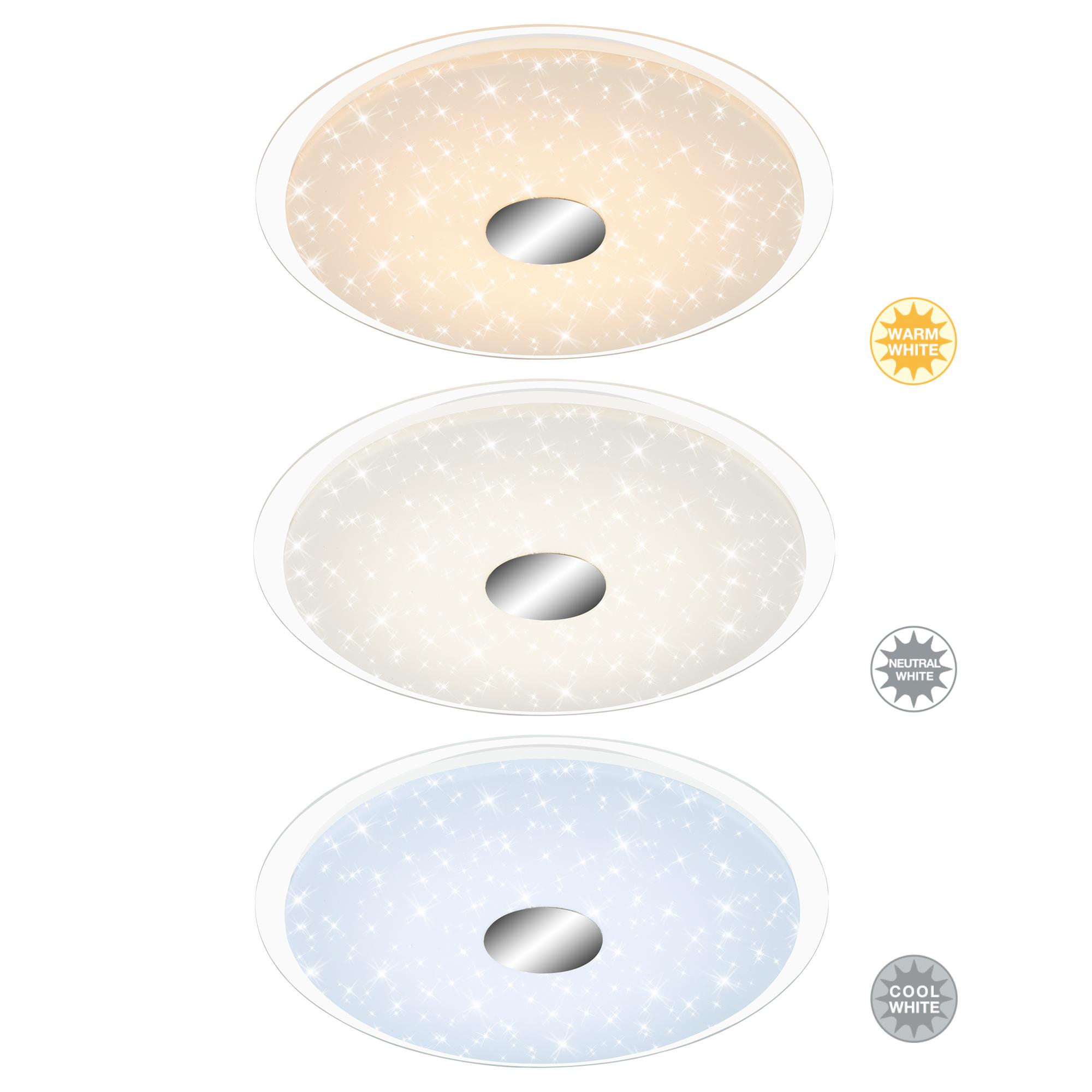 STERNENHIMMEL LED Deckenleuchte, Ø 46 cm, 24 W, Weiss