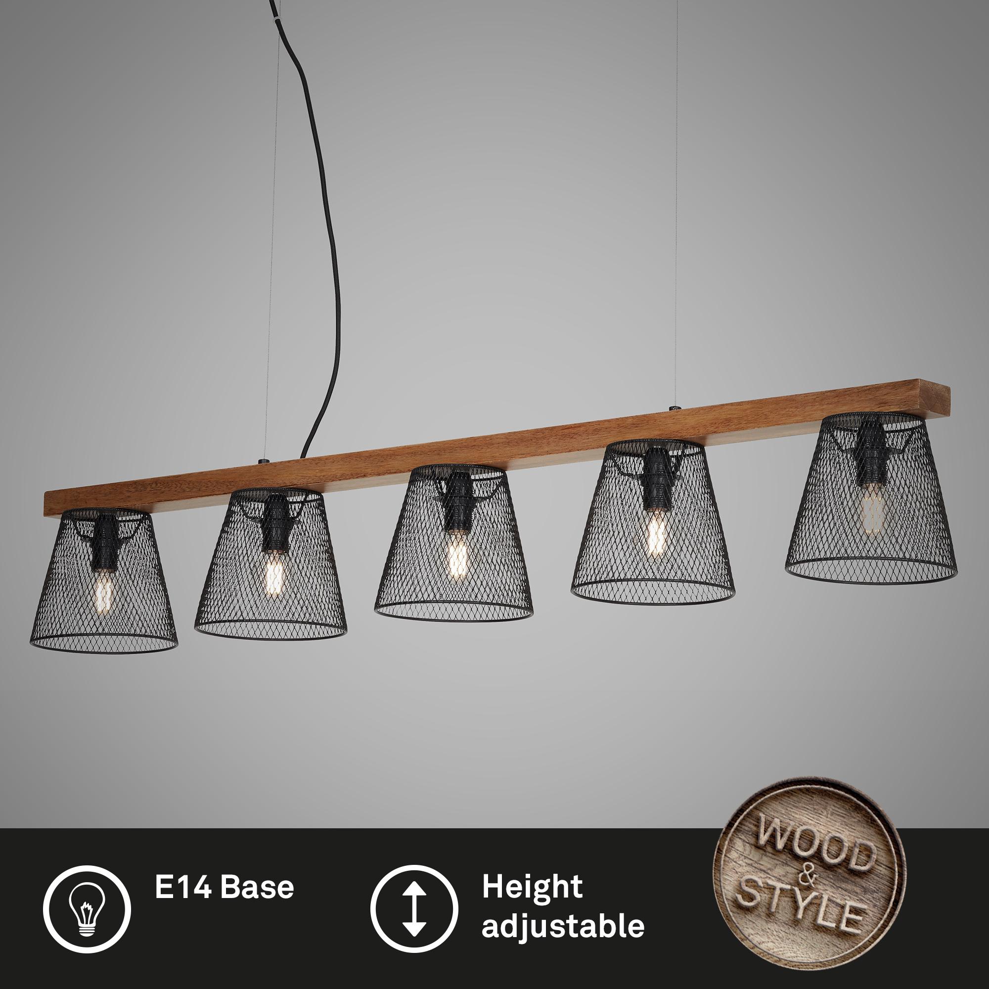 LED Pendelleuchte, 110 cm, max. 25 W, Schwarz