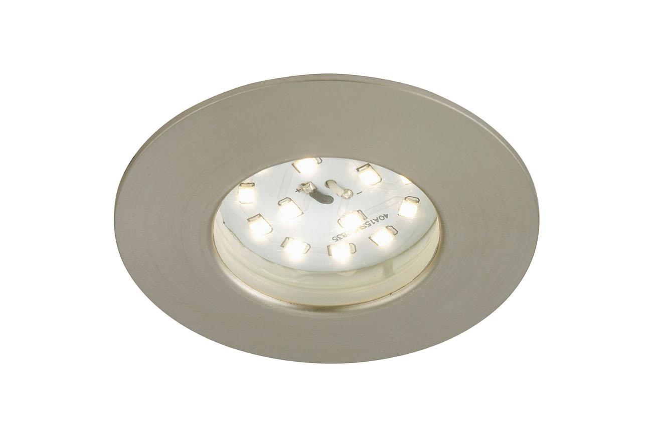 LED Einbauleuchte, Ø 7,5 cm, Matt-Nickel