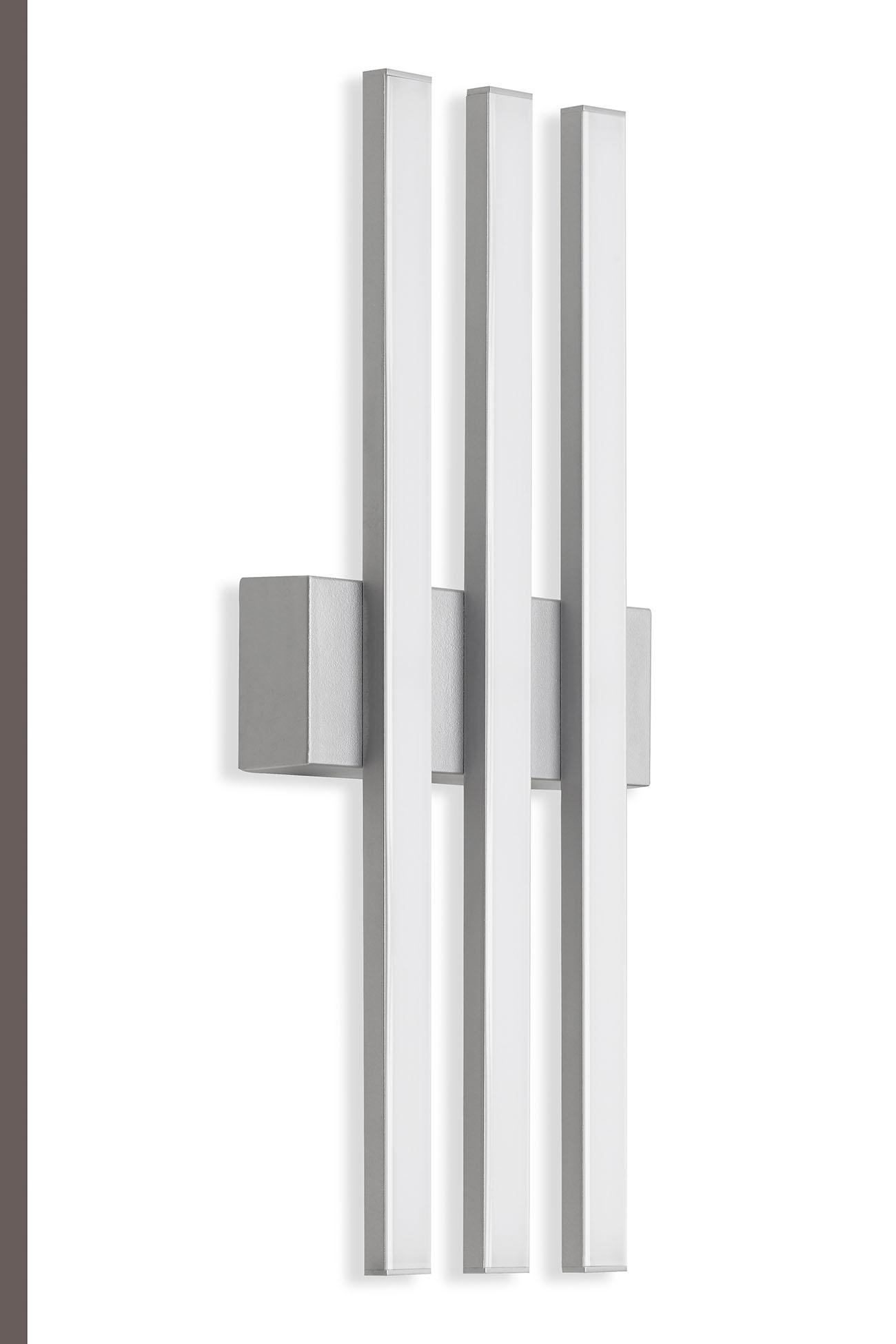 TELEFUNKEN LED Außenwandleuchte, 37 cm, 12 W, Silber