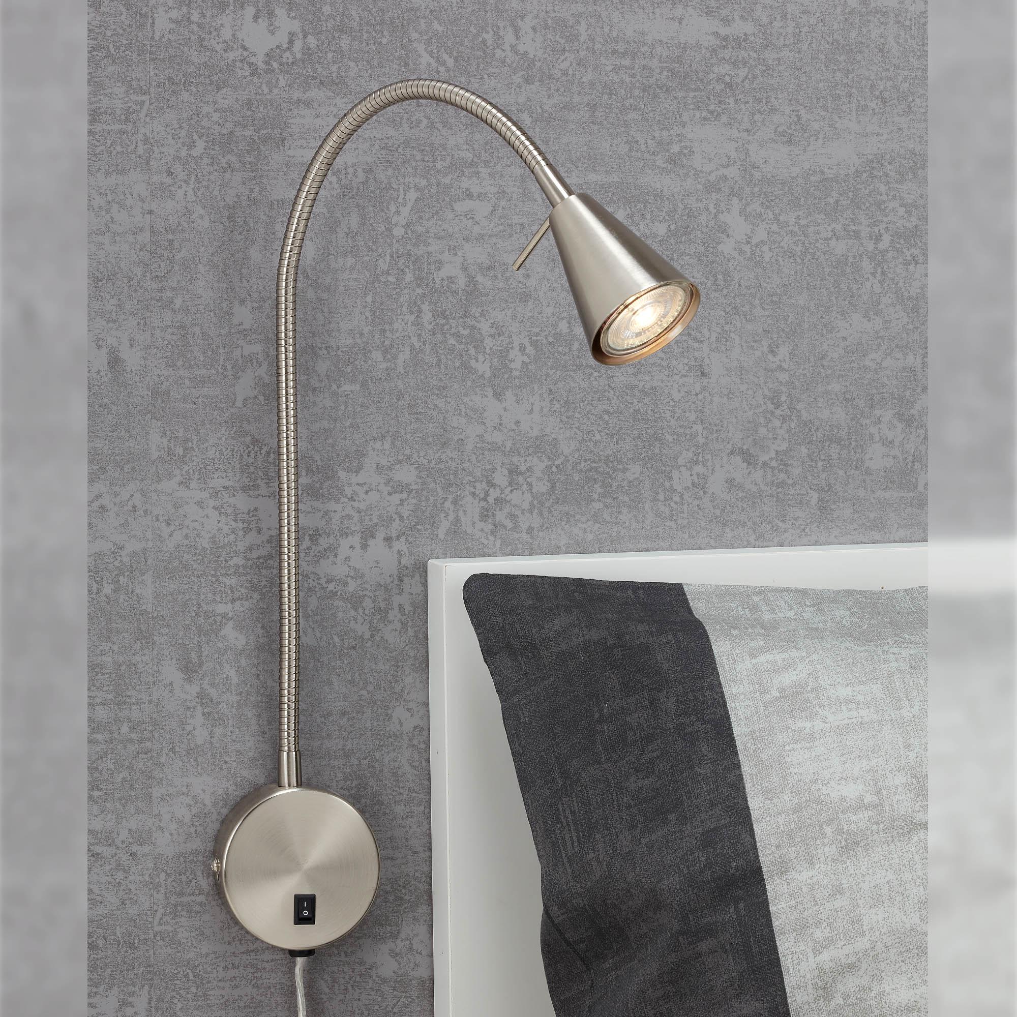 LED Wandleuchte, 45 cm, 5 W, Matt-Nickel