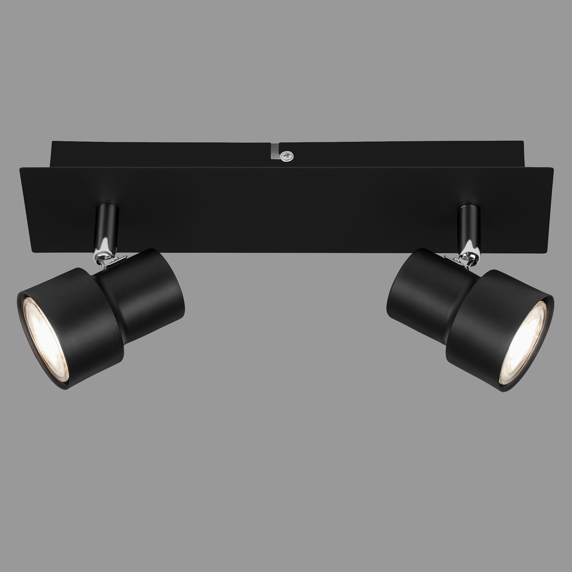 LED Spot Deckenleuchte, 29 cm, 10 W, Schwarz