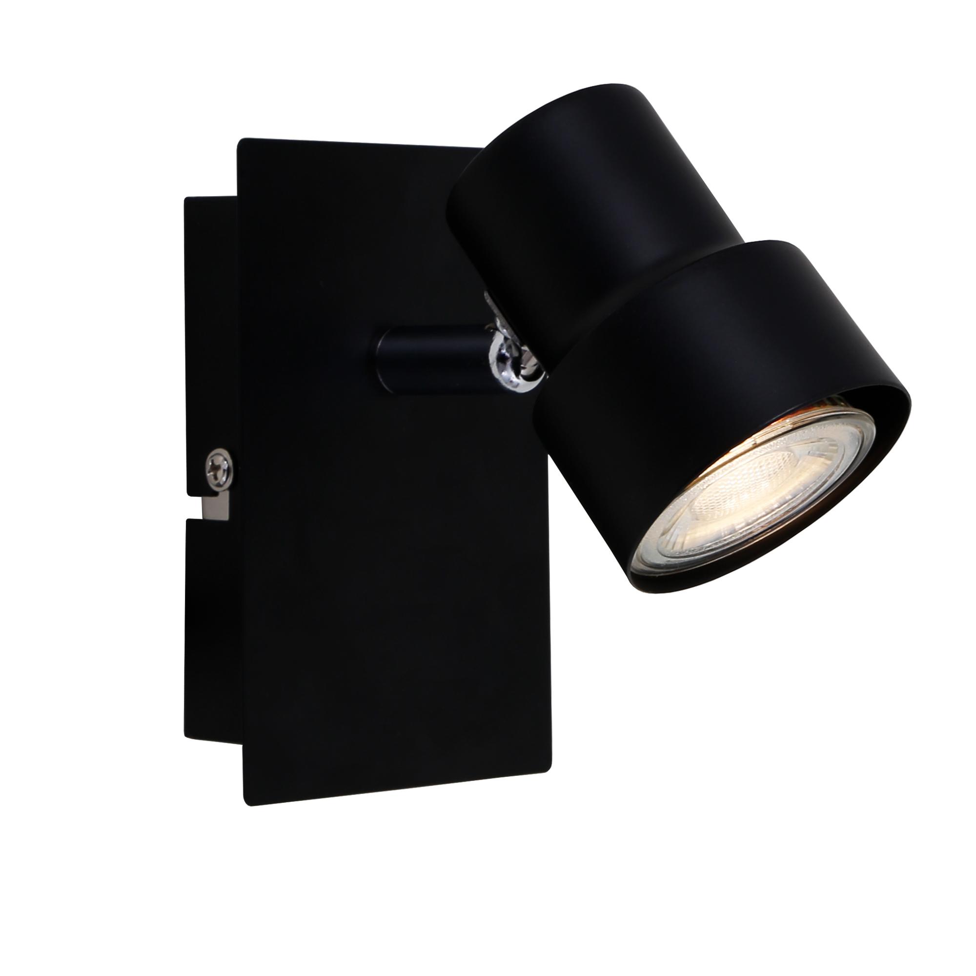 LED Spot Wand- und Deckenleuchte, 12 cm, 5 W, Schwarz